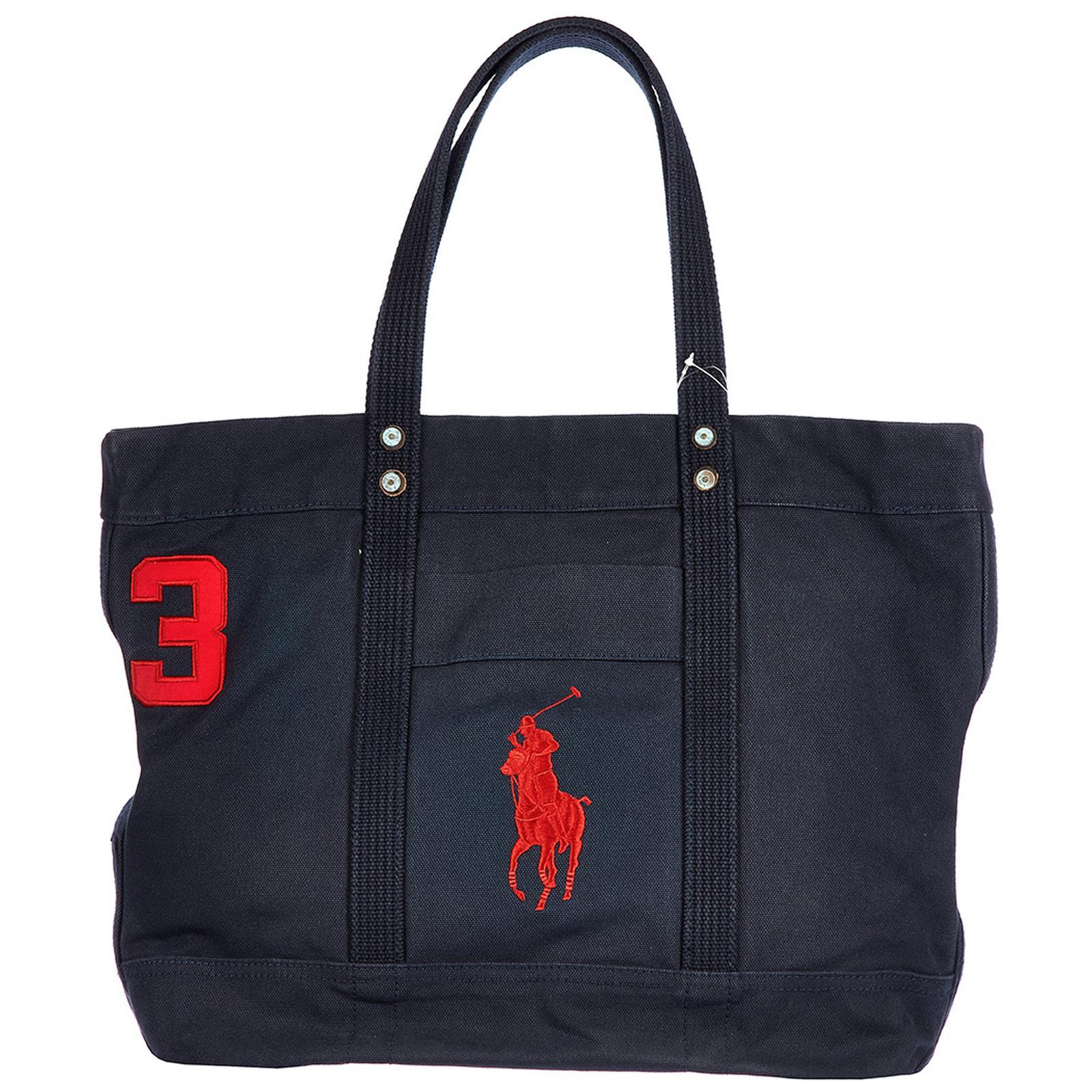 05ffaadfc8 Polo Ralph Lauren Bag Handbag Shopping Tote Canvas Aviator in Blue ...