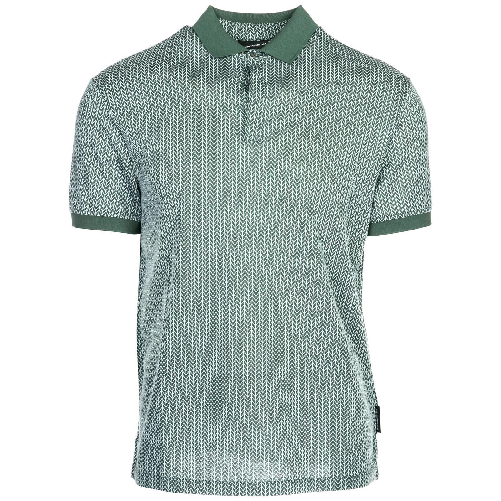 d8f8009e Lyst - Emporio Armani Short Sleeve T-shirt Polo Collar in Green for Men