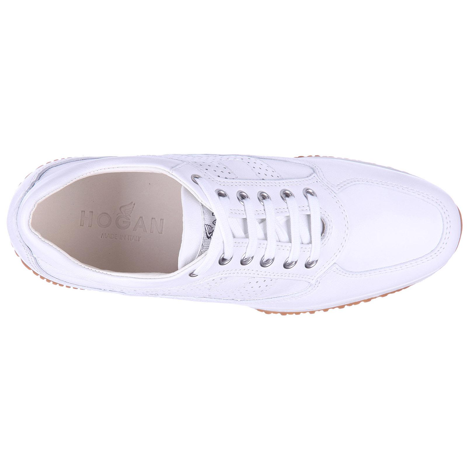 Hogan - White Shoes Leather Trainers Sneakers Interactive H Bucata - Lyst.  View fullscreen 67b6f23a6a5