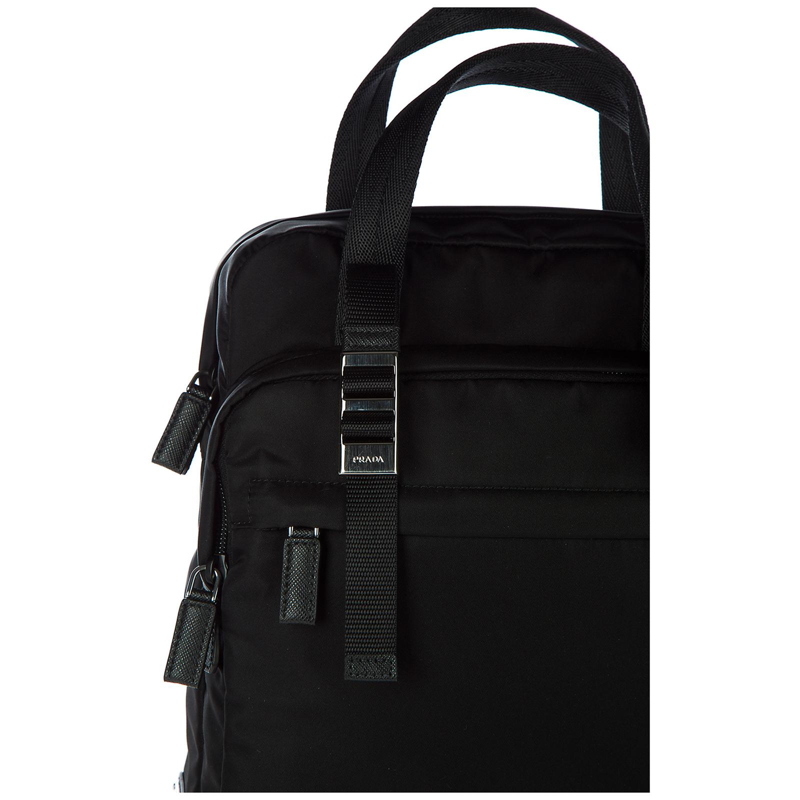 c2b87de4cf3a5 Prada Zaino Backpack in Black for Men - Lyst