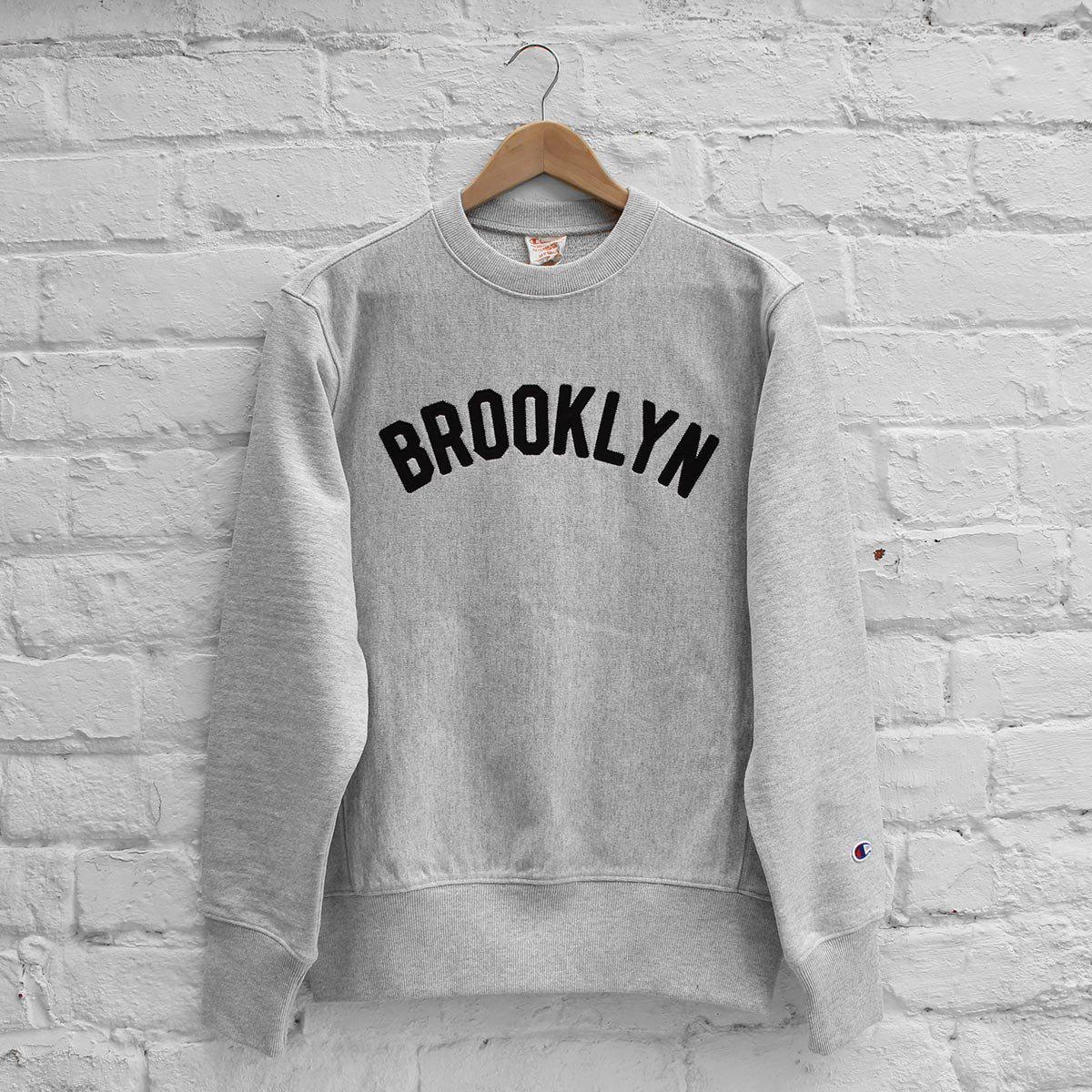 1a05d597dd9a Champion Brooklyn Crew Sweat in Gray for Men - Lyst