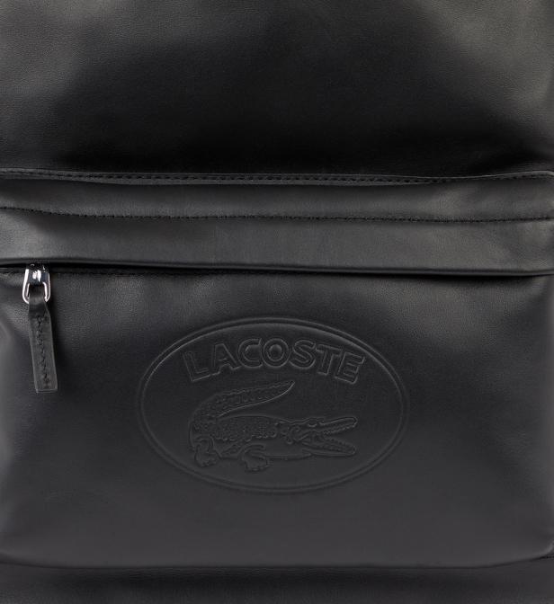 7675a9faab Lacoste - Black Sac à dos en cuir L12.12 for Men - Lyst. Afficher en plein  écran