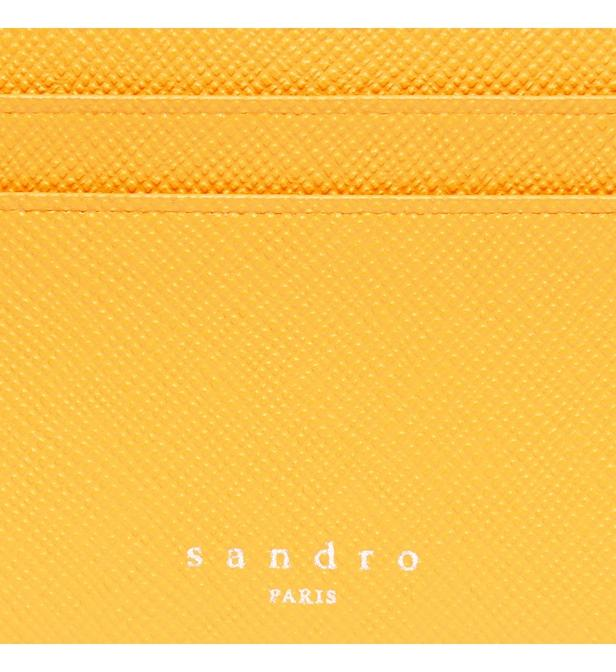 56719789d8f Sandro - Yellow Porte-cartes en cuir grainé for Men - Lyst. Afficher en  plein écran