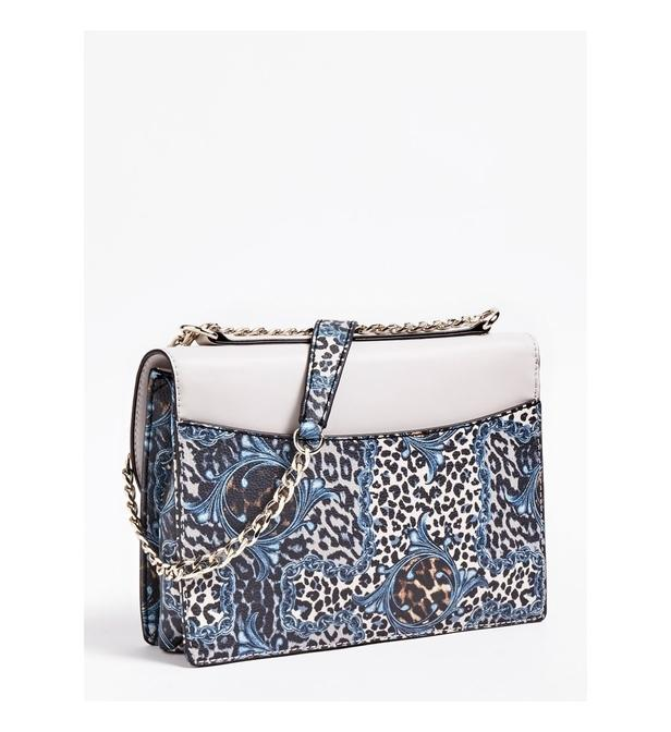 SAC BANDOULIERE EILEEN ANIMALIER Synthétique Guess en