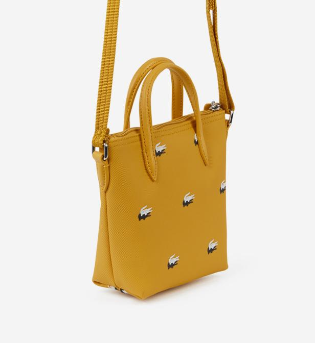 d800e7cefa Mini sac cabas Peacoat Lacoste en coloris Jaune - Lyst