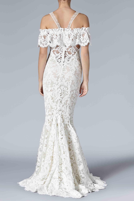 Galvan Treville Bridal Gown in White - Lyst