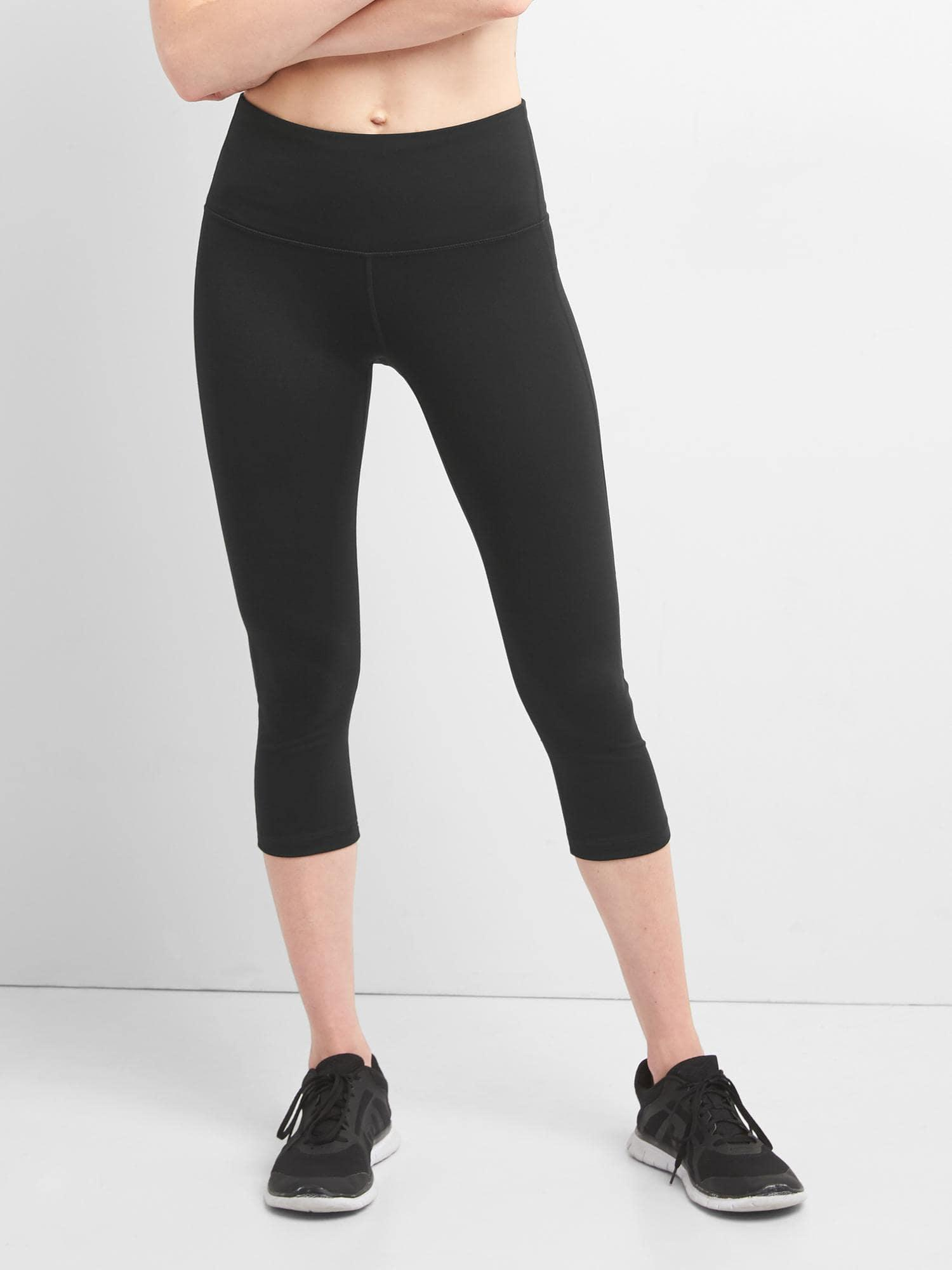 b0c932fb3238b Gap - Gfast High Rise Blackout Crop Capris - Lyst. View fullscreen