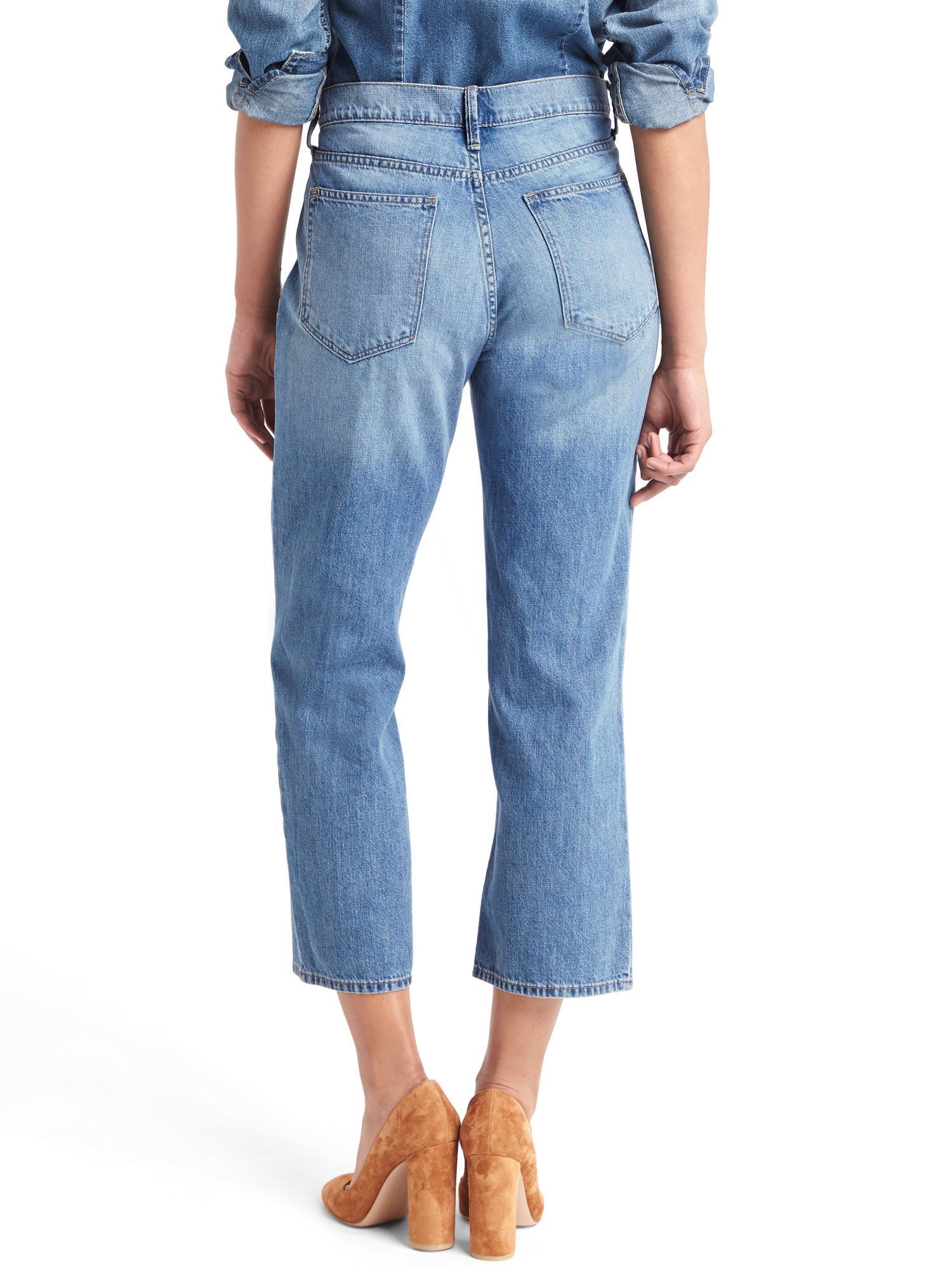 Gap Original 1969 Wide-leg Crop Jeans in Blue (lightest indigo) | Lyst