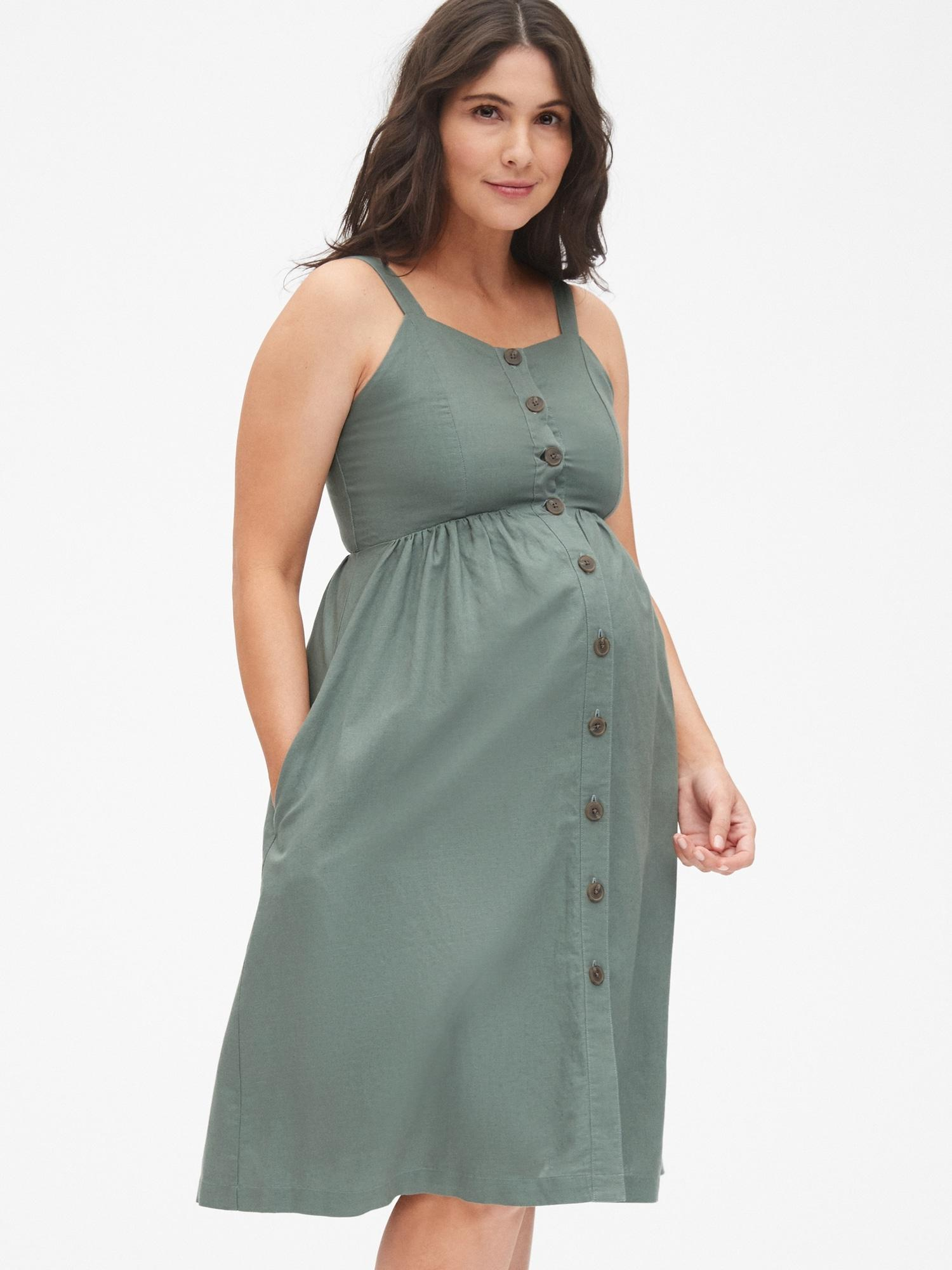 Maternity In Dress Gap Apron Lyst Green WrxdCeEoQB