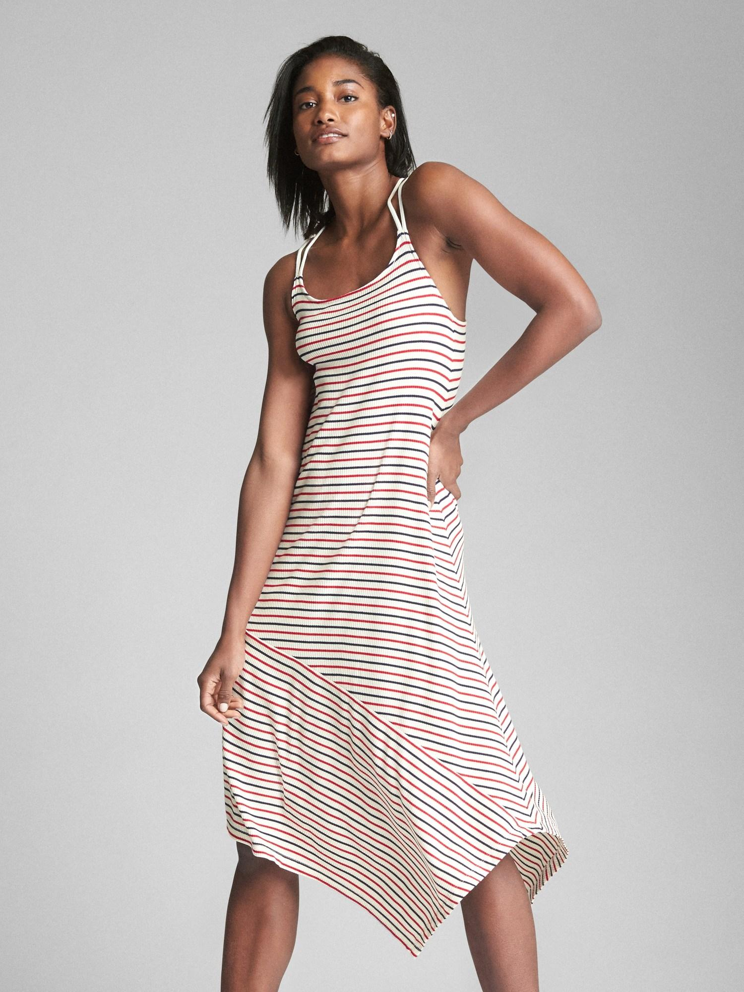 bff63e52b9d5 Gap. Women's Asymmetrical Stripe Midi Dress