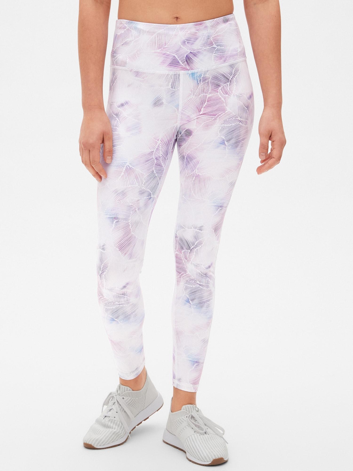 5b4d2425c741a Gap. Women's Fit High Rise Blackout Print Full Length Leggings