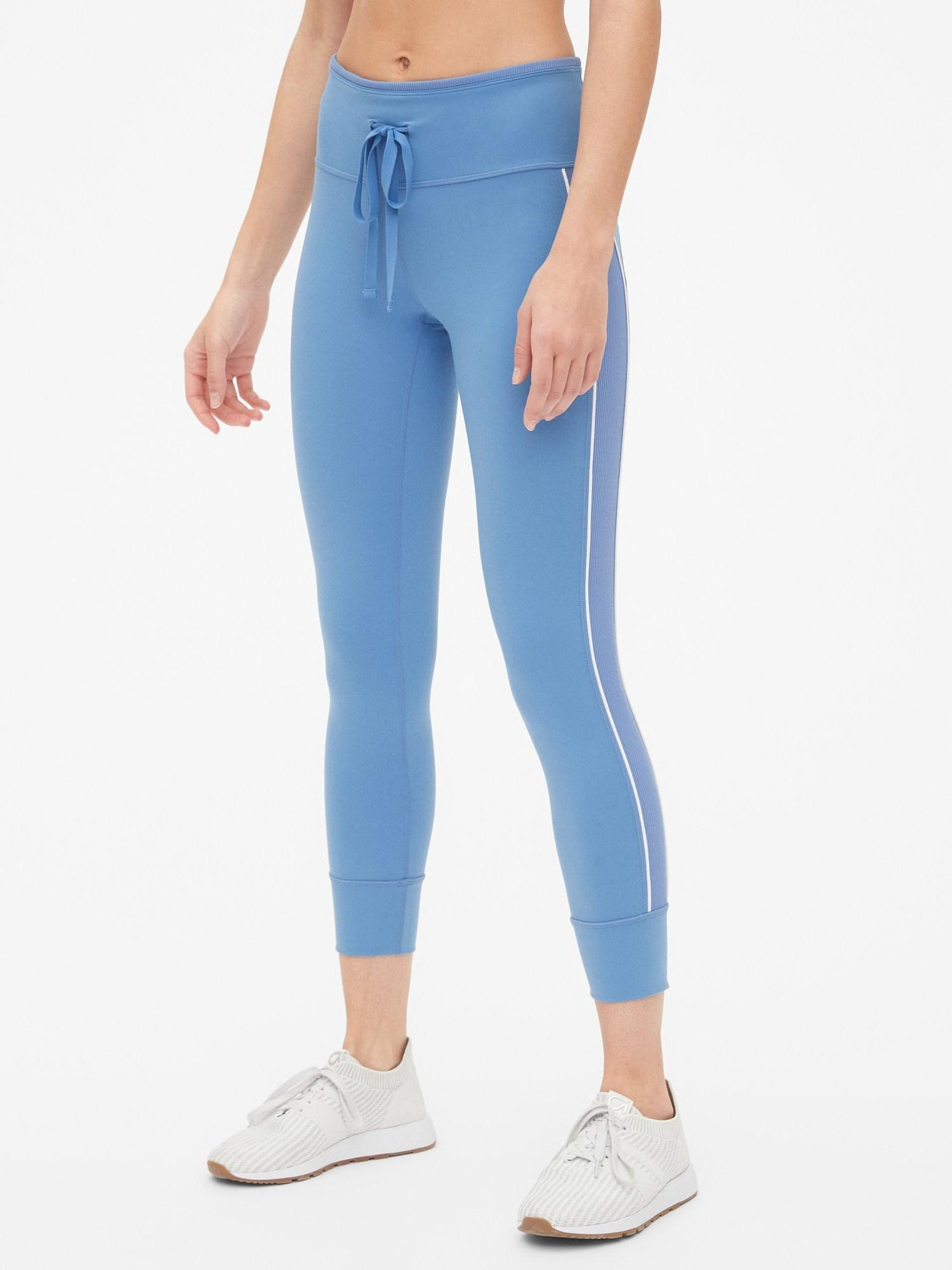 d73987cf85043 Gap Fit Blackout Drawstring Side Panel 7/8 Leggings in Blue - Lyst