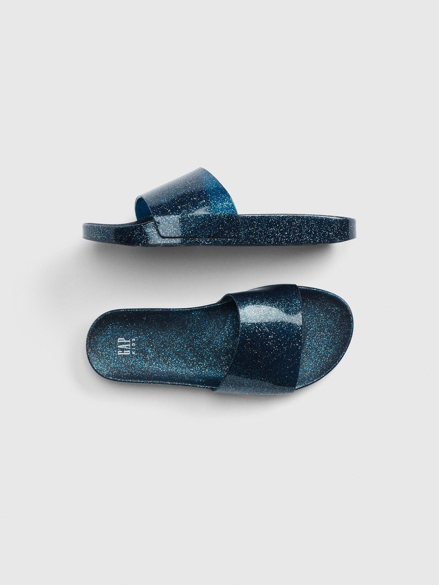 2f7f59b7adea Lyst - Gap Glitter Jelly Slides in Blue