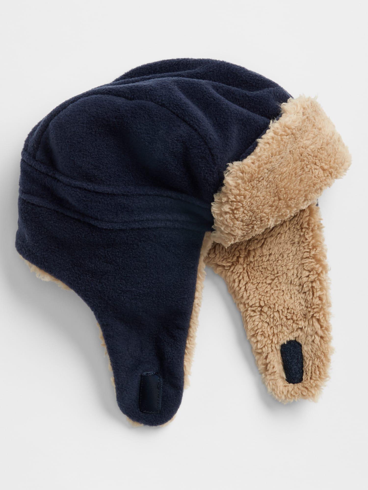 Lyst - Gap Factory Pro Fleece Cozy Trapper Hat in Blue for Men 9f3a0fe6fe63