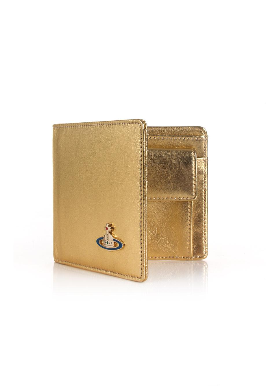 c488db7aeb7 Vivienne Westwood Nappa 51010009 Wallet With Coin Pocket Gold in ...