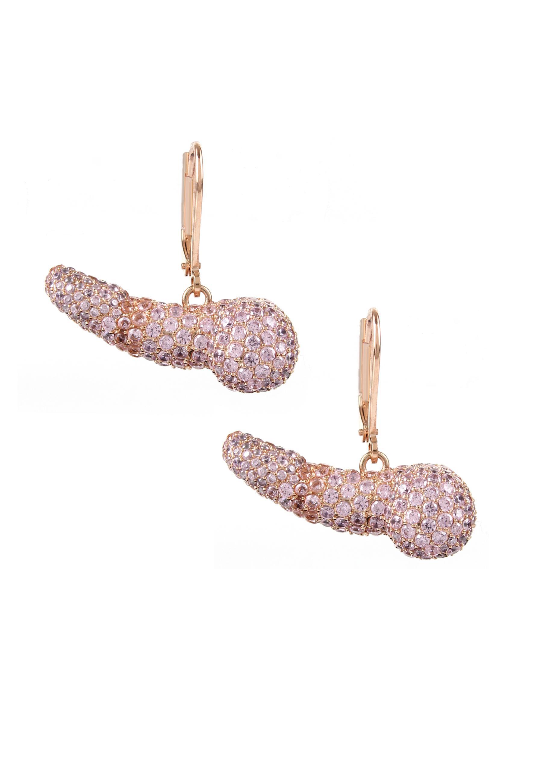 Vivienne Westwood. Women's Pan Earrings Pink Gold/pink