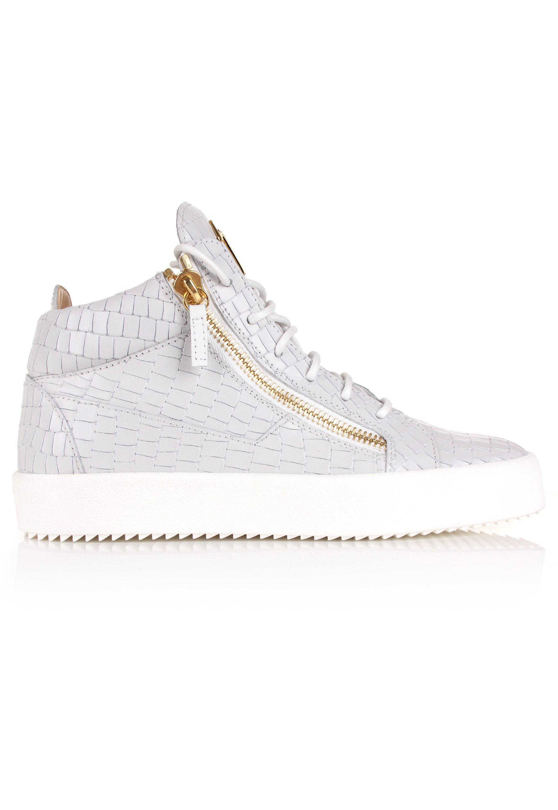 c75394daae70c Giuseppe Zanotti Kriss Logo Mid-top Sneakers White/gold in White for ...