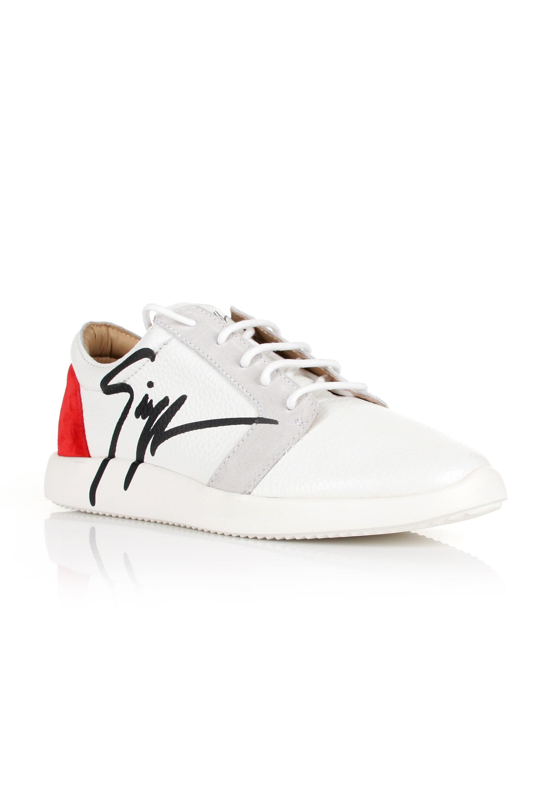 ae818f0e3c91 Lyst - Giuseppe Zanotti G Runner Low-top Sneakers White red in White ...