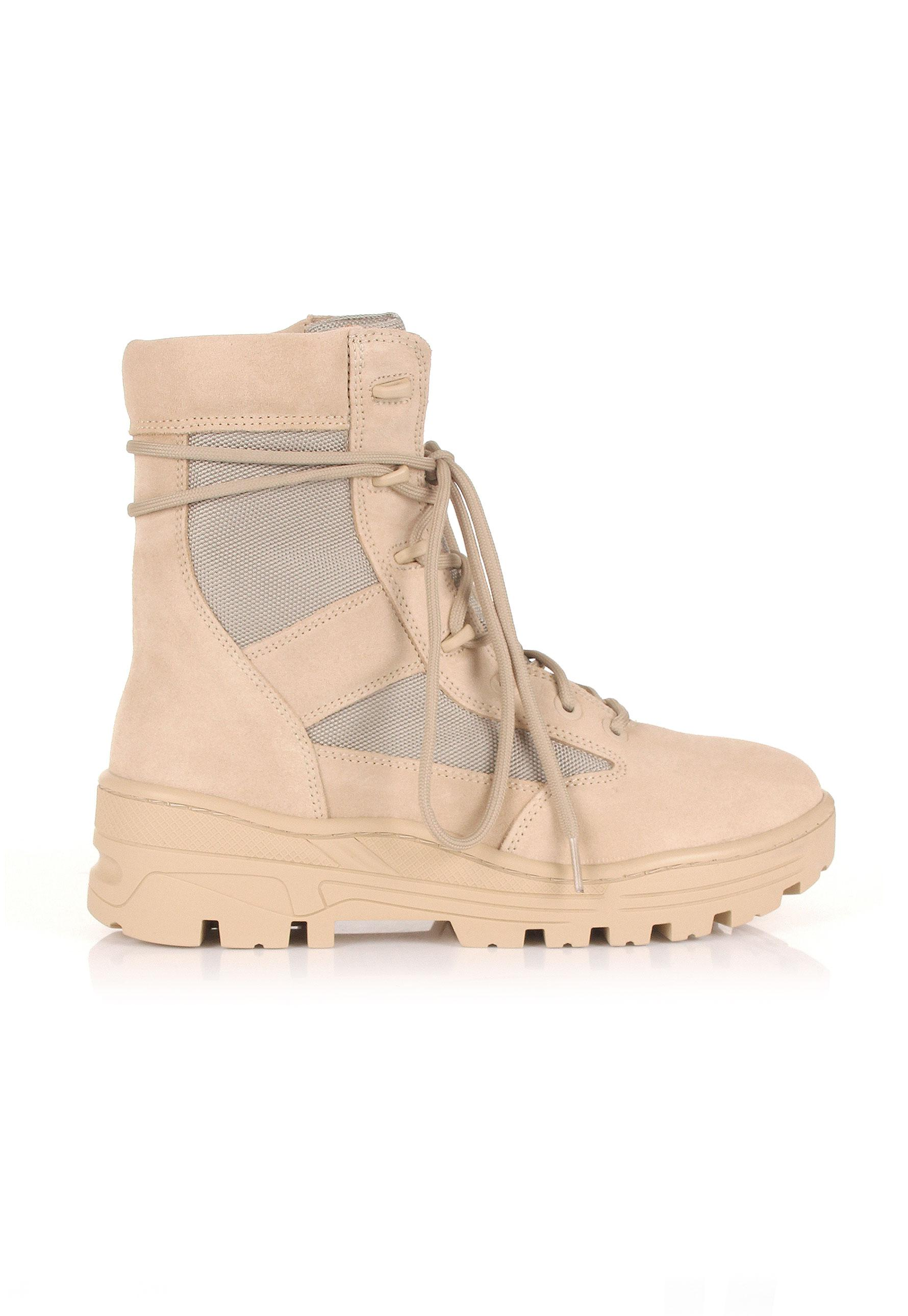 508552210dafc Lyst - Yeezy Season 4 Combat Boots Sand in Natural