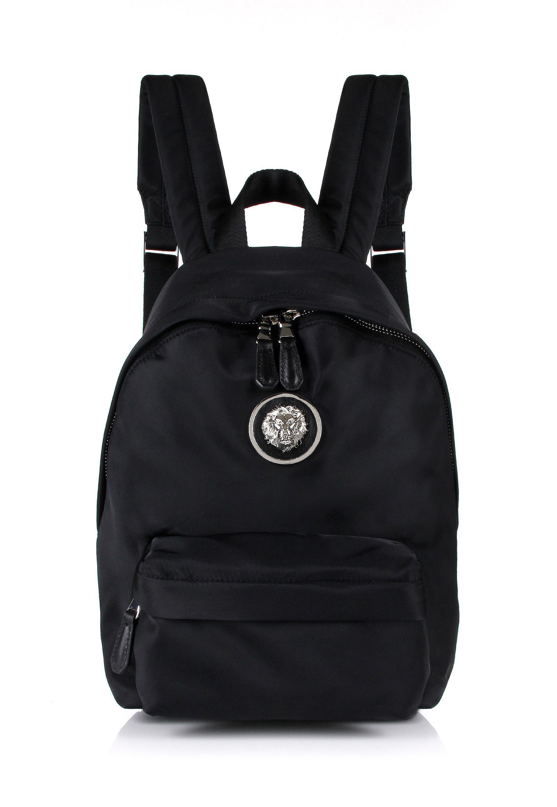 8f938751be47 Versus Small Nylon Lion Head Backpack Black nickel in Black for Men ...