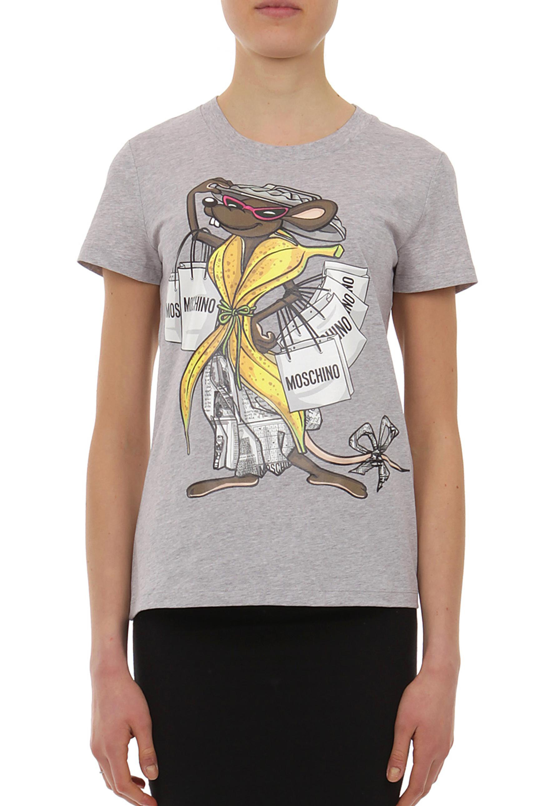 f1b29ac05 Moschino Trash Mouse T-shirt Grey Melange in Gray - Lyst