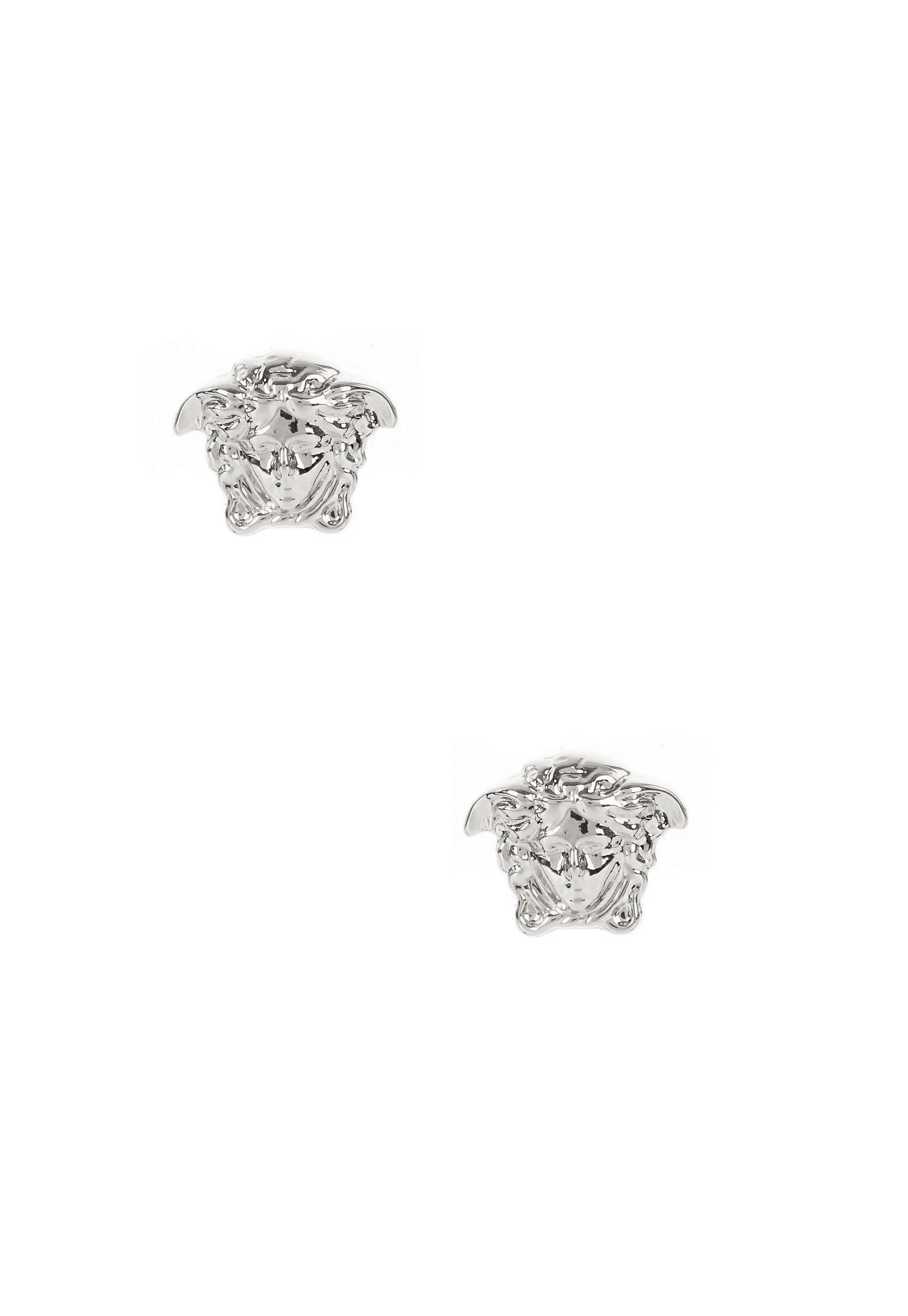 0bd1c55b4 Lyst - Versace Mini Medusa Head Earrings Palladium in Metallic