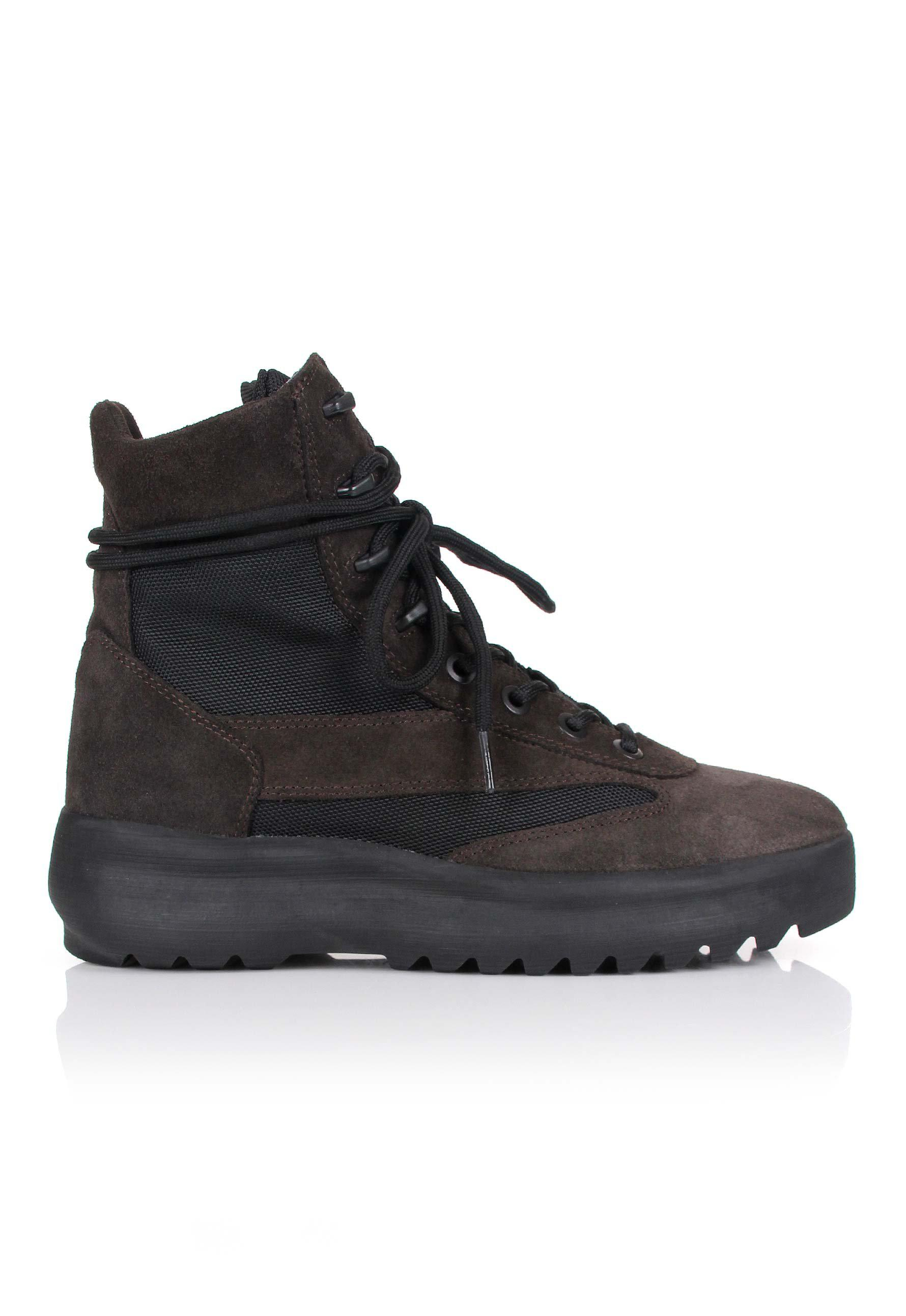 2079e3500517a Yeezy Season 5 Military Boots Oil in Black for Men - Lyst