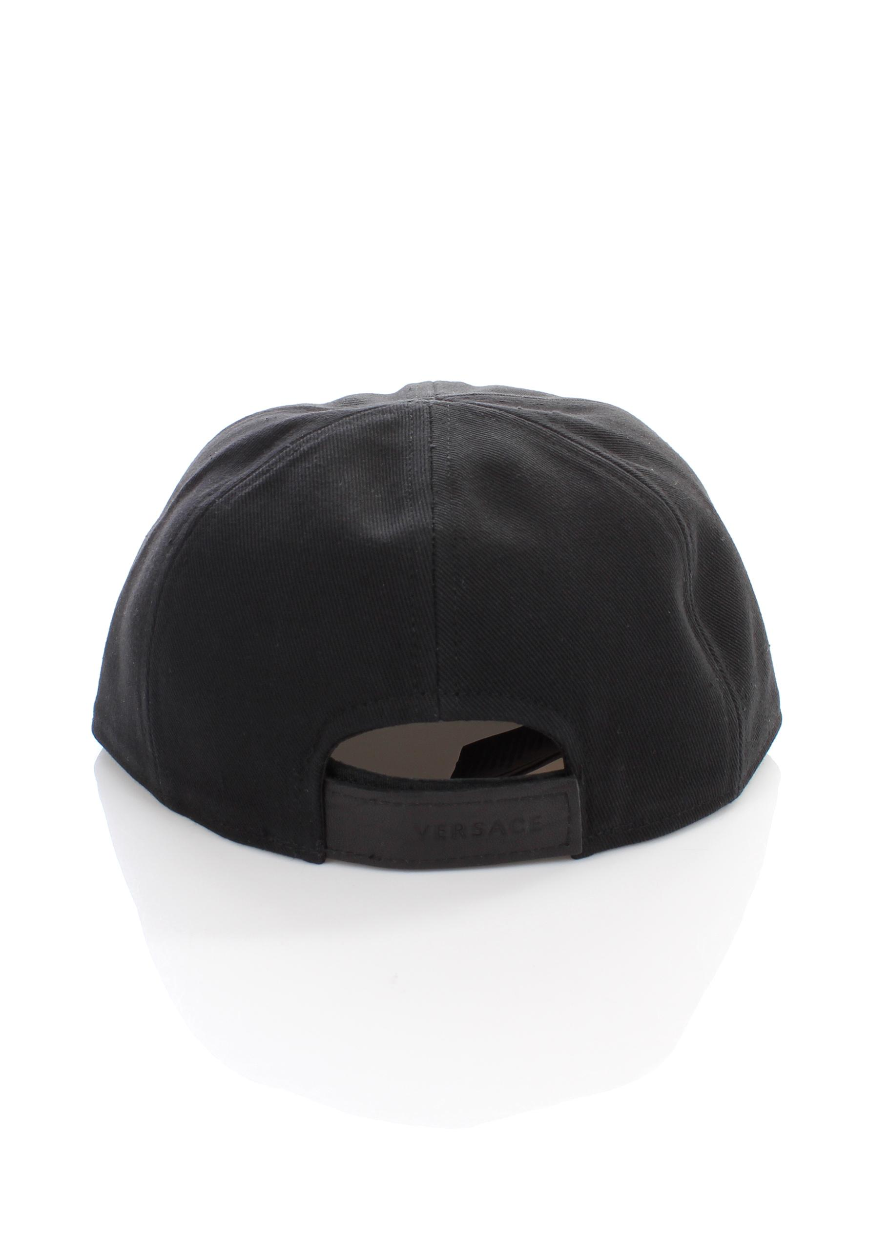 0368a77ca00 Versace - Black Medusa Logo Half Leather Cap Nero for Men - Lyst. View  fullscreen
