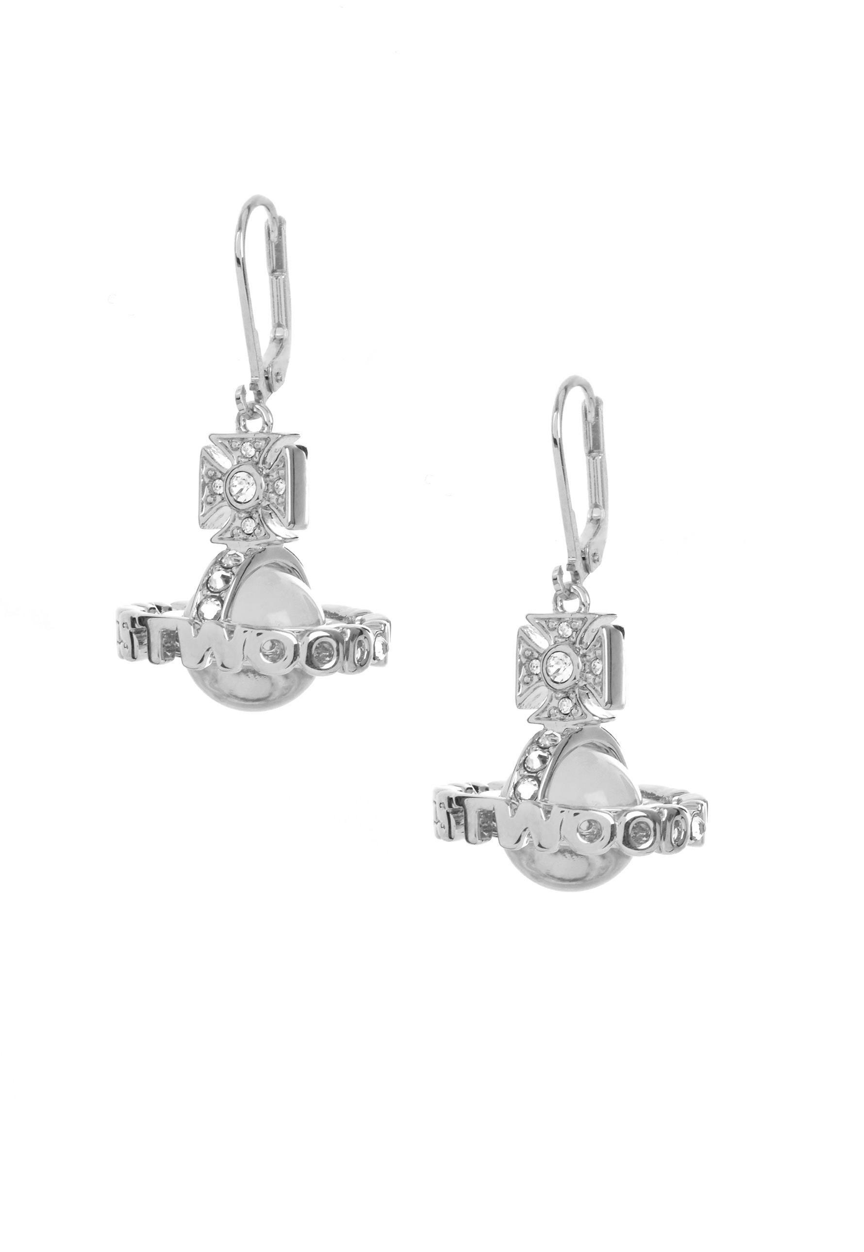 2d6fc70af Vivienne Westwood - Metallic Paisley Orb Earrings Rhodium - Lyst. View  fullscreen