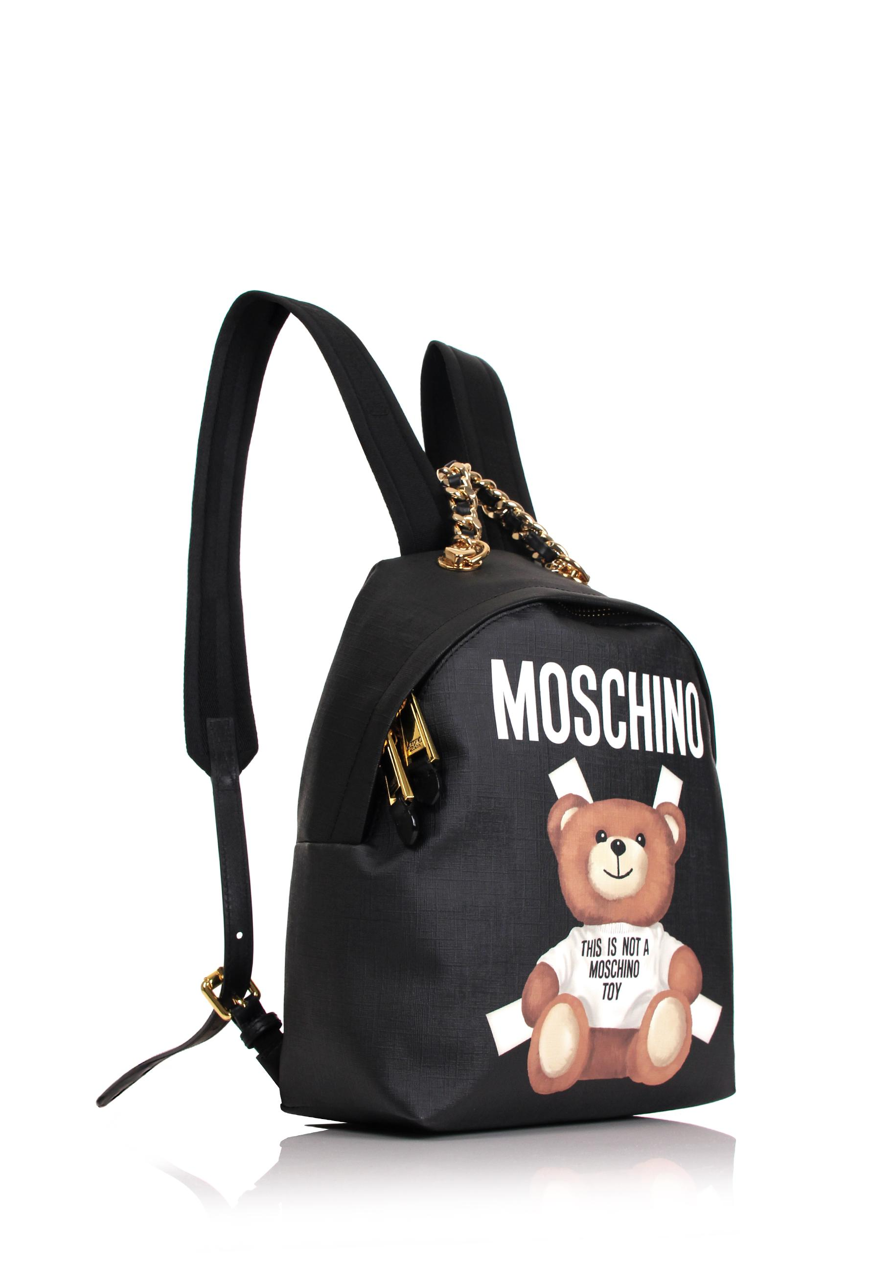 fedeae787675 Moschino Bear Mini Backpack Black in Black - Lyst