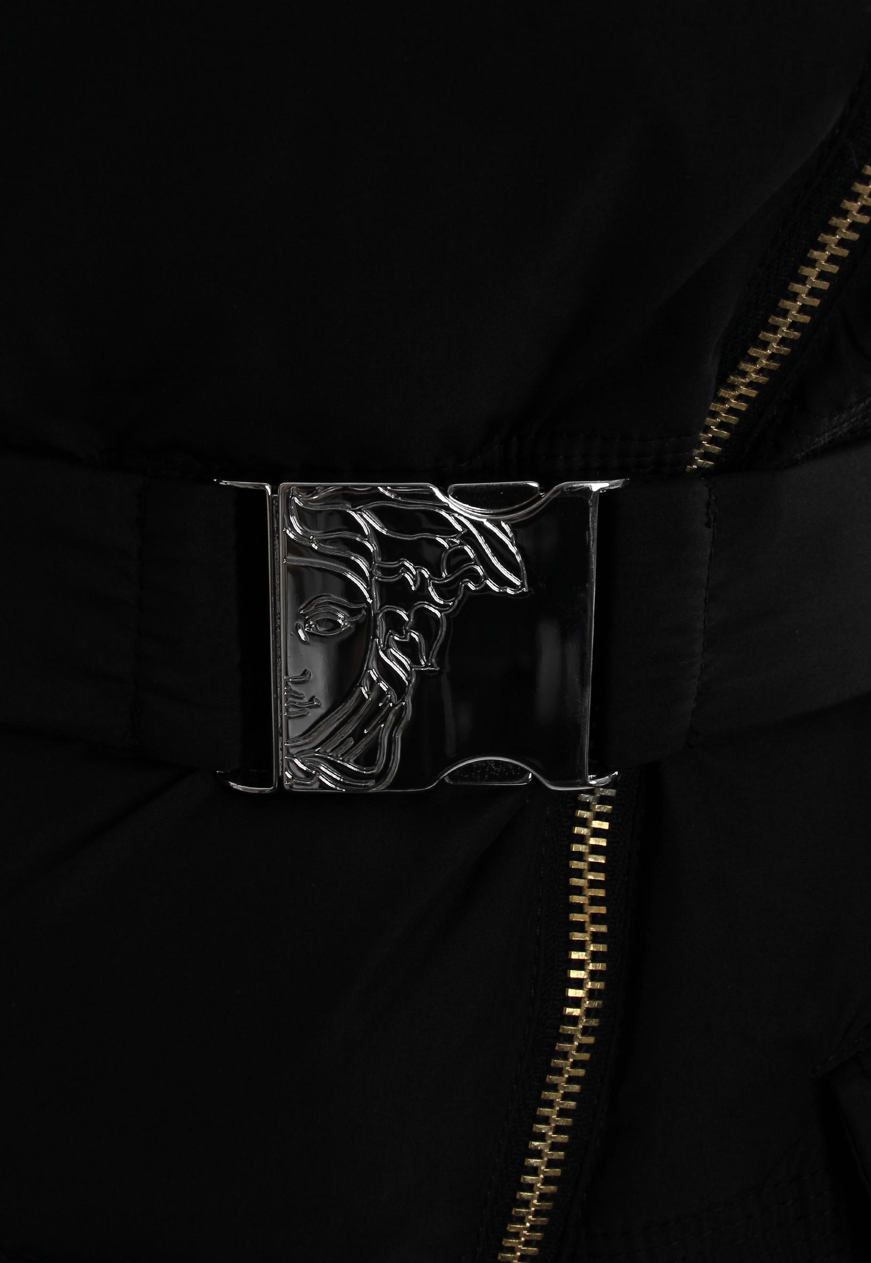 7f8d6af844c0 Lyst - Versace Belted Down Jacket Black in Black