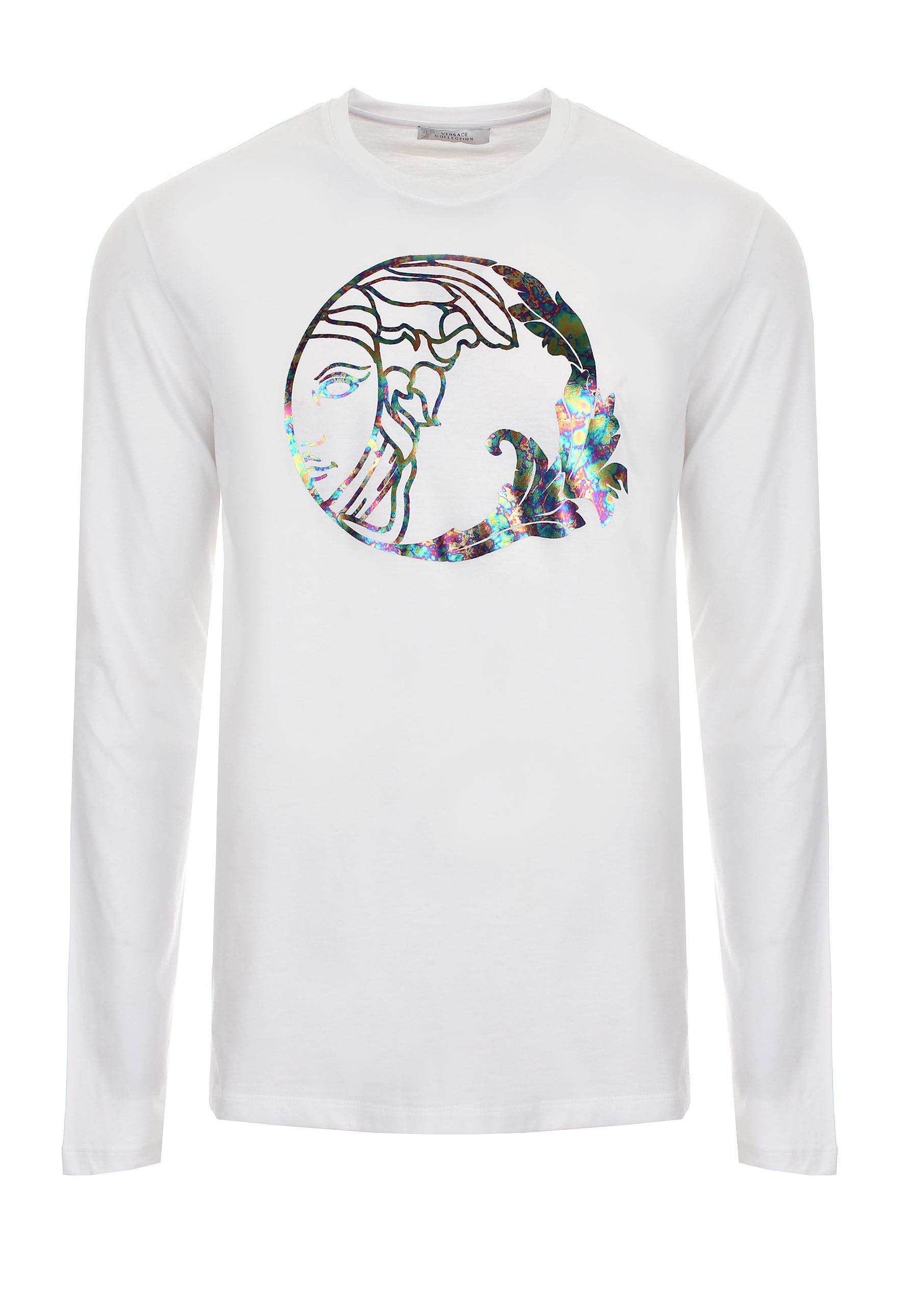 8030e4d8 Versace Holograph Medusa Long Sleeve T-shirt White in White for Men ...