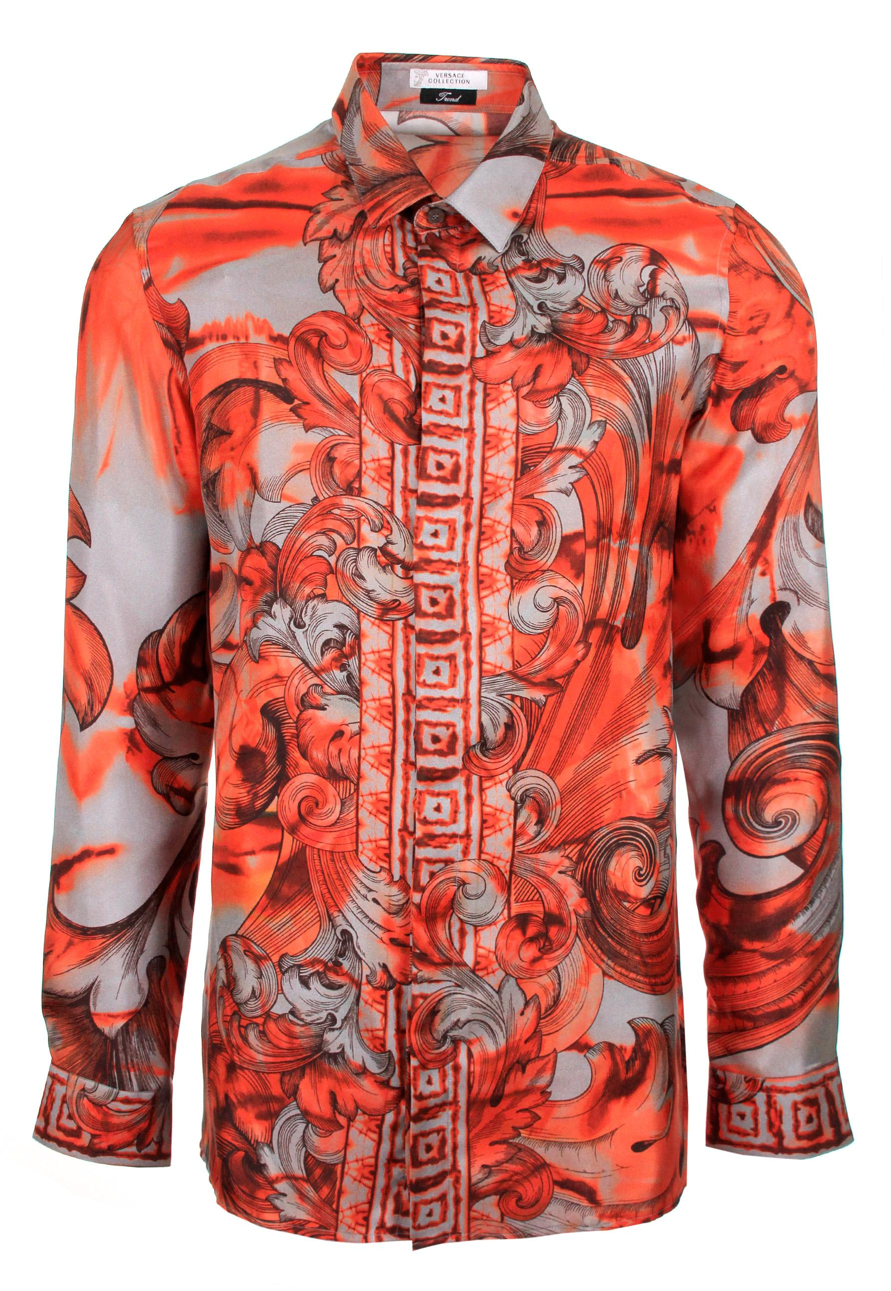 Lyst Versace Tie And Dye Baroque Hand Painted Silk Shirt