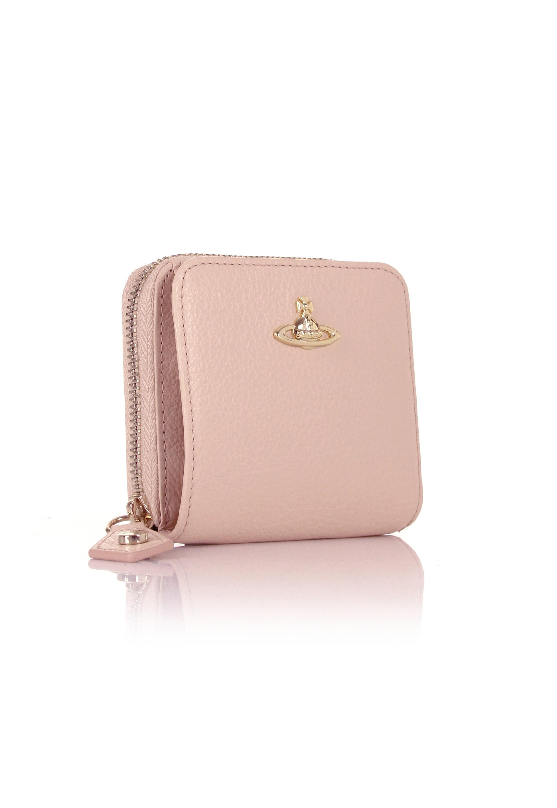 c2ff82b5f Vivienne Westwood Balmoral 321386 Medium Zip Around Wallet Pink ...
