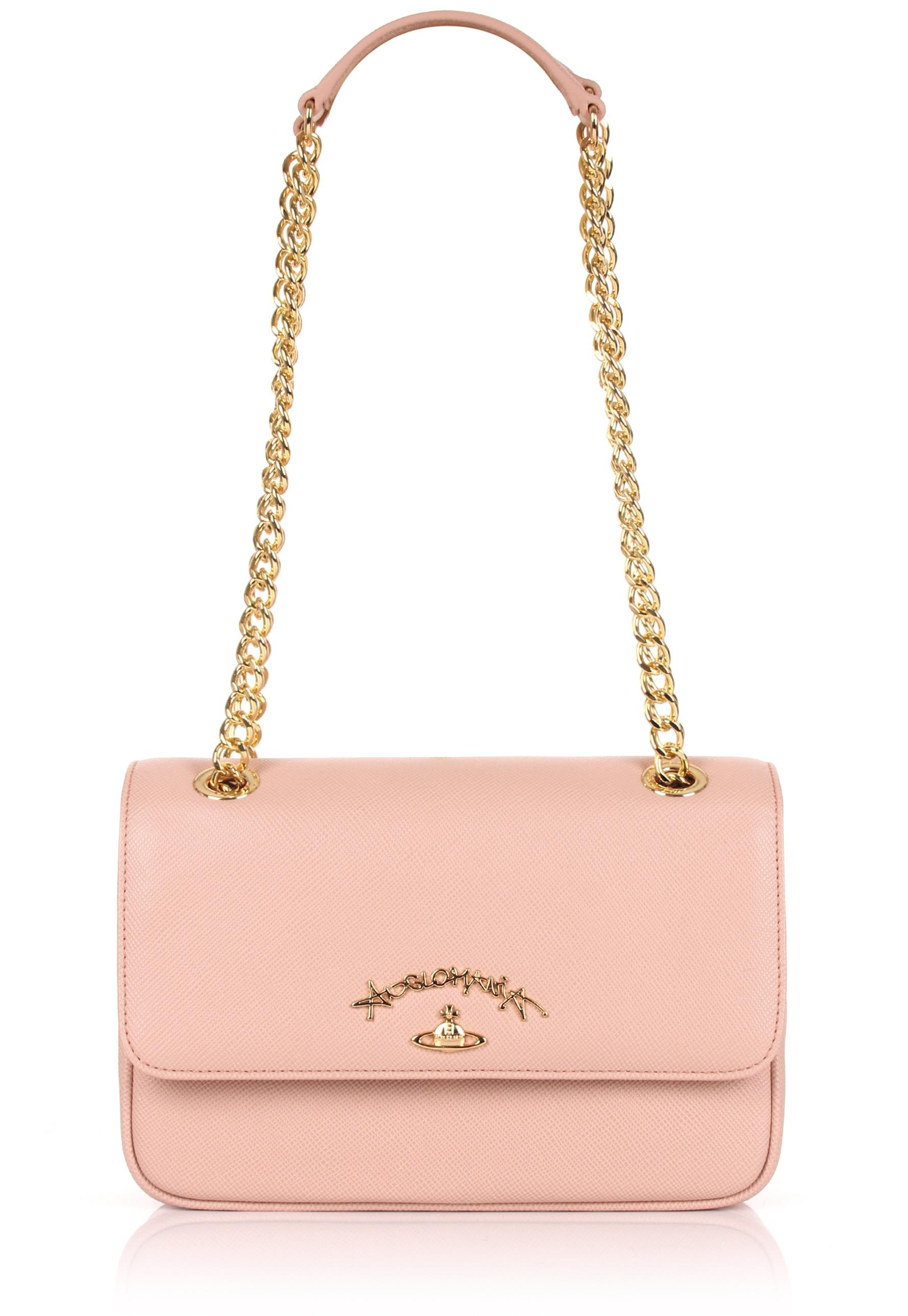 64f4980f1fe5 Lyst - Vivienne Westwood Divina 7065 Evening Bag With Flap Pink in Pink