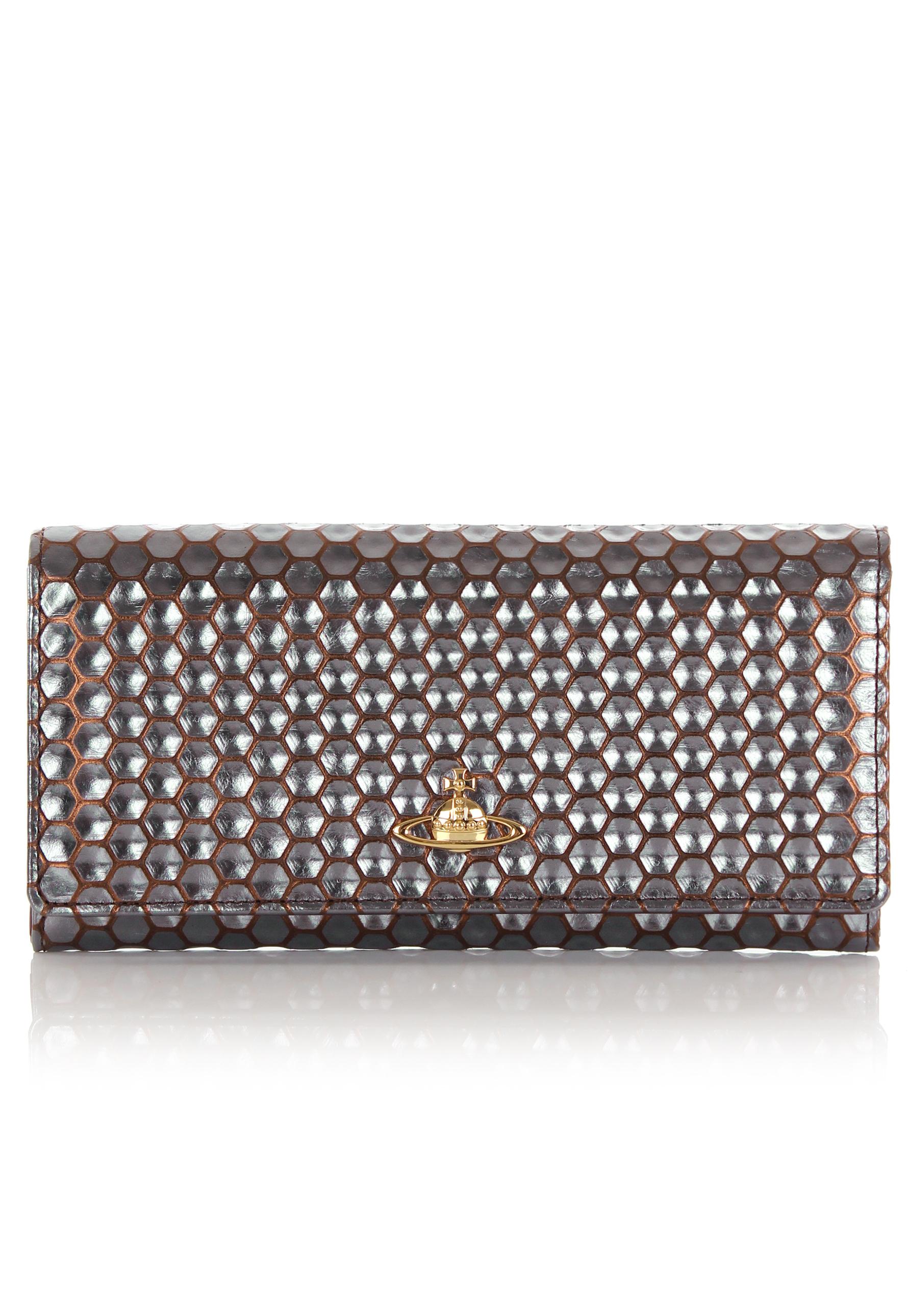 b1fb8540695 Vivienne Westwood Honeycomb 2800 Long Purse Bronze in Metallic - Lyst