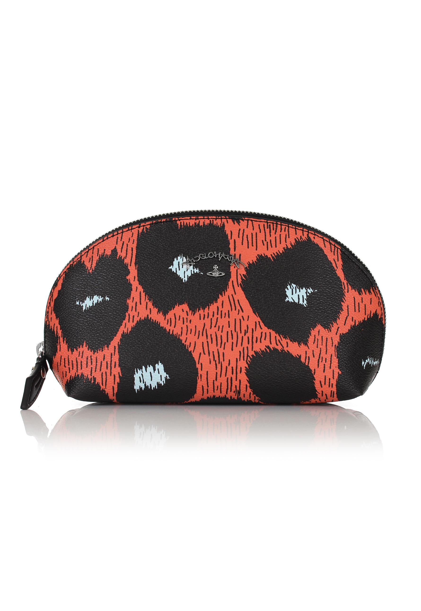 444dc61f49 Lyst - Vivienne Westwood Leopardmania 35084 Make Up Bag Orange in Orange