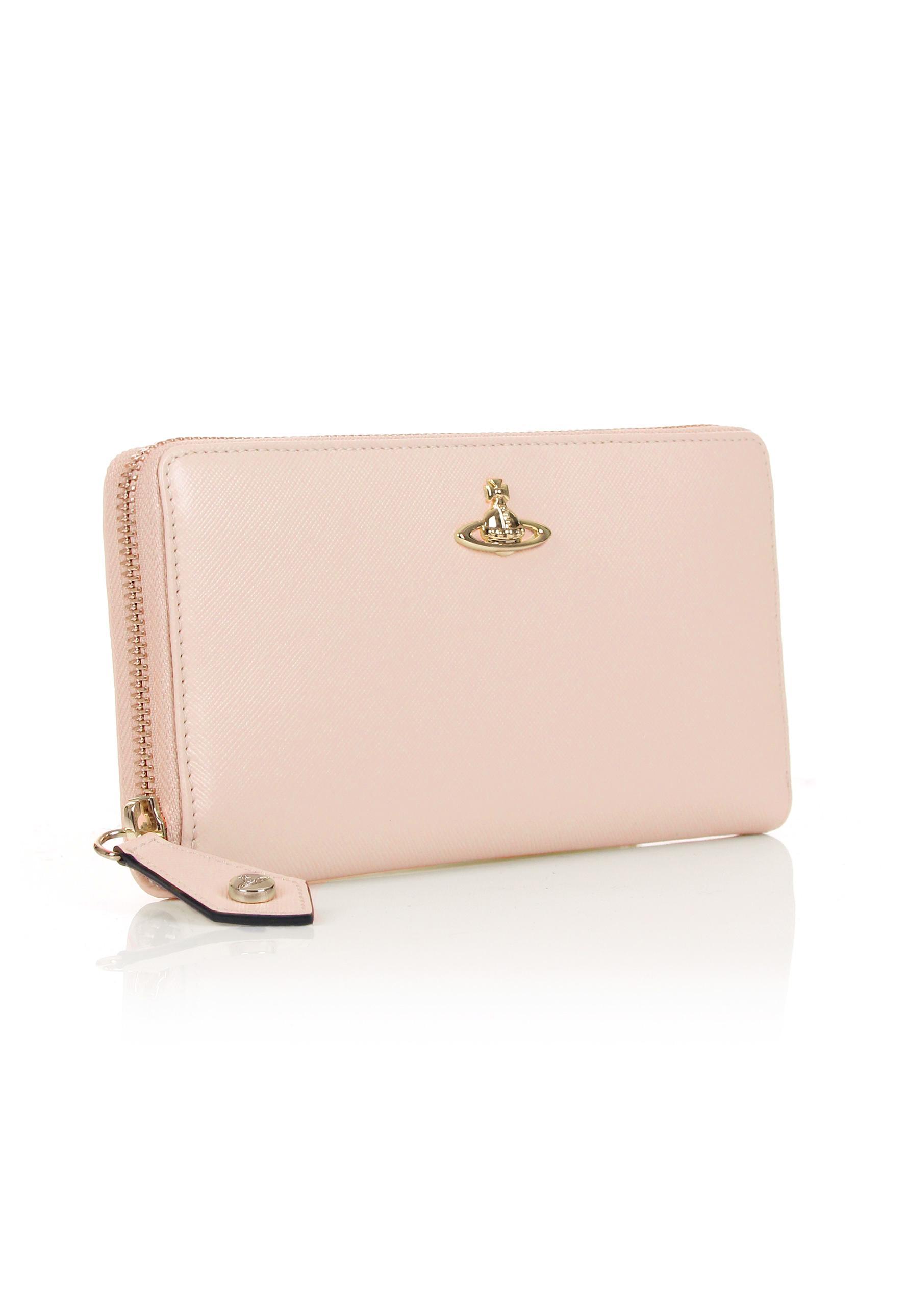 30facf6ffcc Vivienne Westwood Opio Saffiano 321407 Zip Around Purse Pink in Pink ...