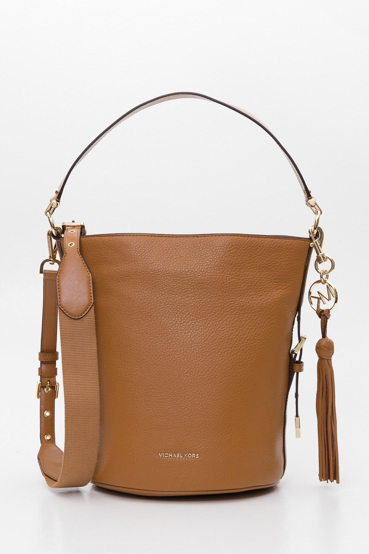 bc3ff660679d MICHAEL Michael Kors Brooke Medium Pebbled Leather Bucket Bag in ...