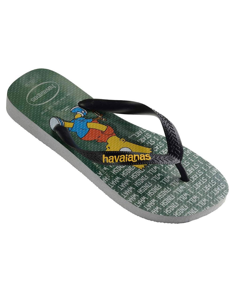 0224dea1e56 Havaianas Simpsons Thong Ice Grey in Gray - Lyst