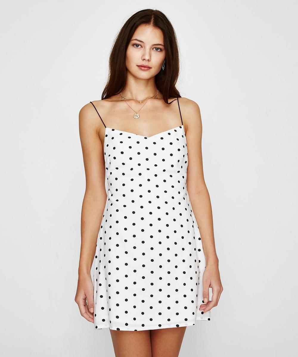 44c85a64d0 Alice In The Eve Spot Maddie Backless Mini Dress in White - Lyst