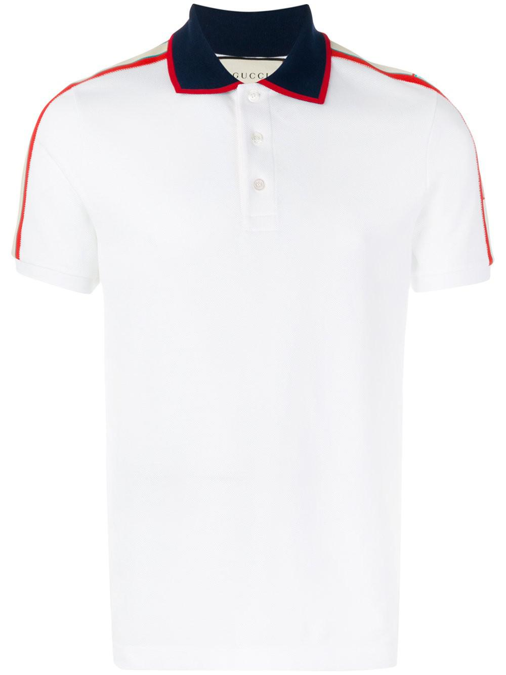 749d73726935 Lyst - Gucci T-shirt Polo in White for Men