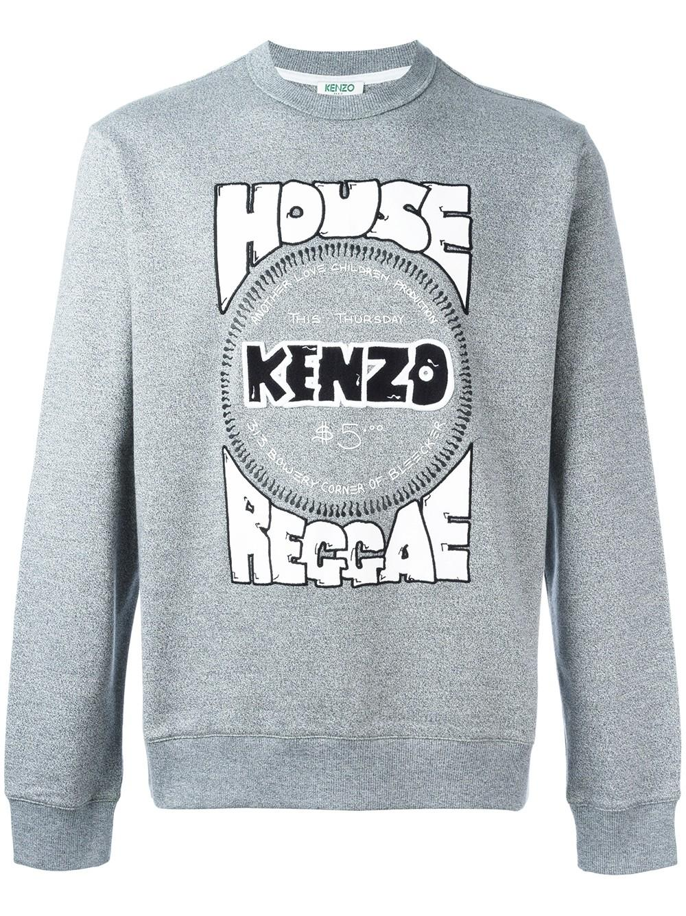 52f1540bb7 Lyst - KENZO House Reggae Print Sweatshirt in Gray for Men