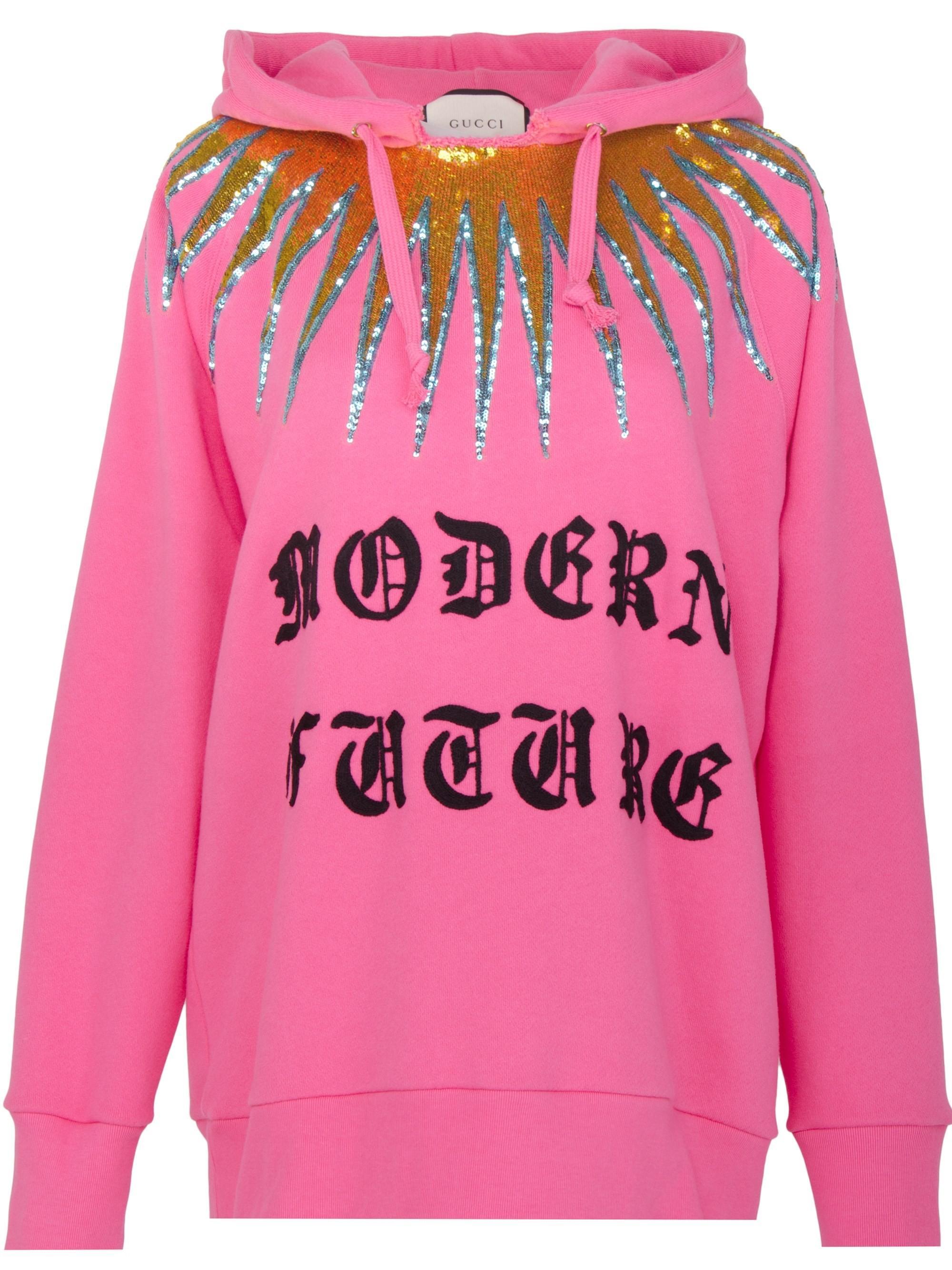 Lyst - Gucci Modern Future Cotton Sweatshirt in Pink