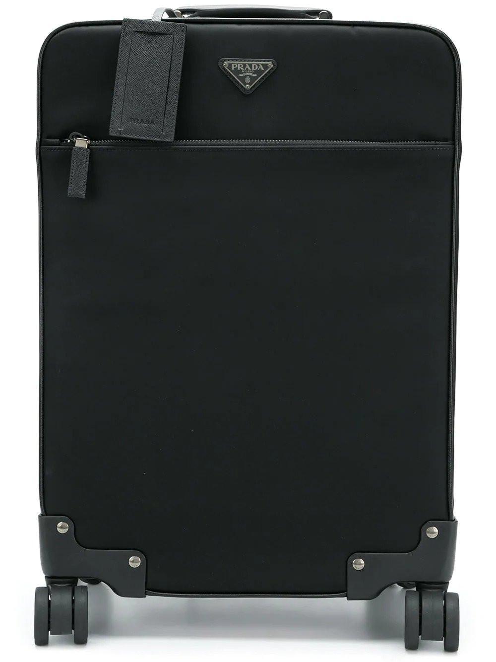 8adf251f369c Prada - Black Rolling Suitcase for Men - Lyst. View fullscreen
