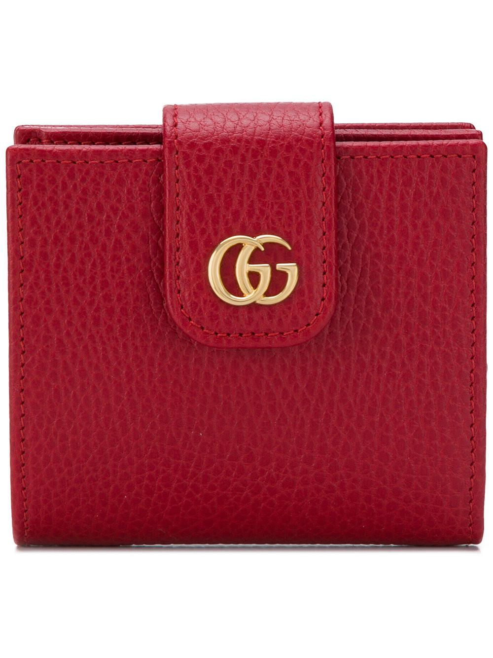 c0b2ea0504f Lyst - Gucci Gg Marmont Card Holder in Red