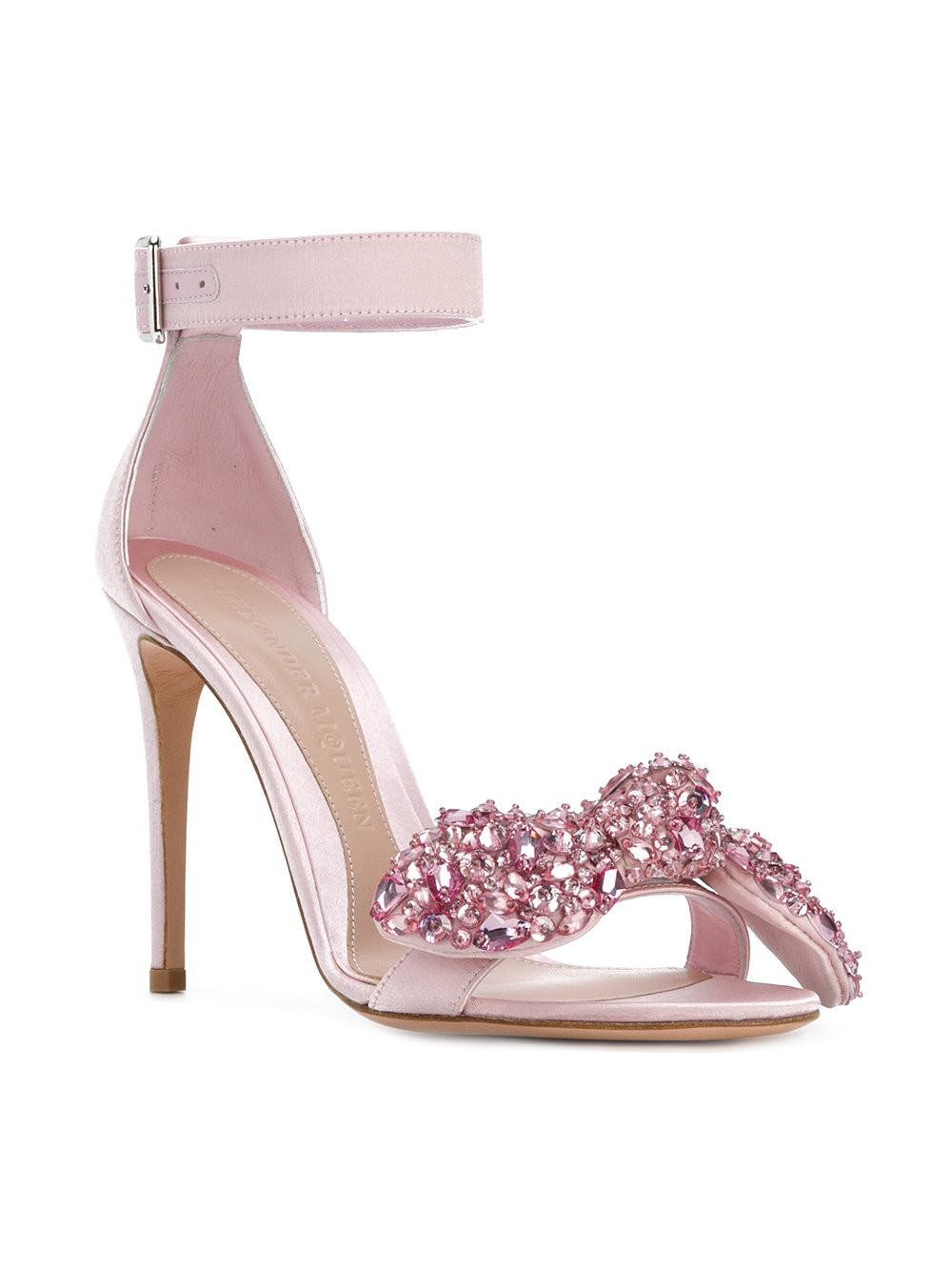 embellished sandals - Pink & Purple Alexander McQueen