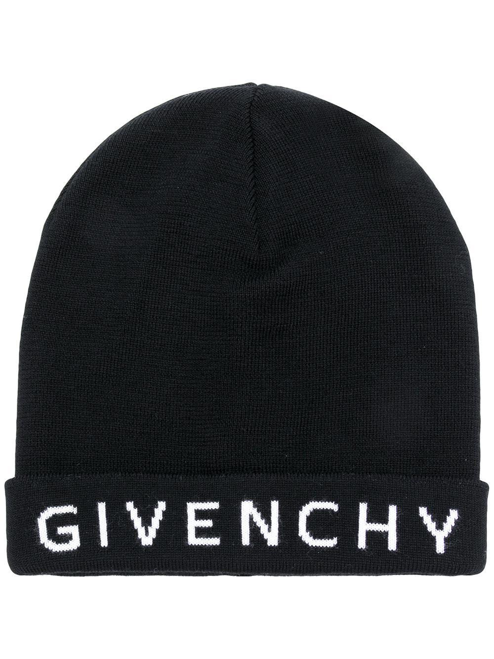c572e266b5a Givenchy - Black Intarsia Logo Beanie - Lyst. View fullscreen