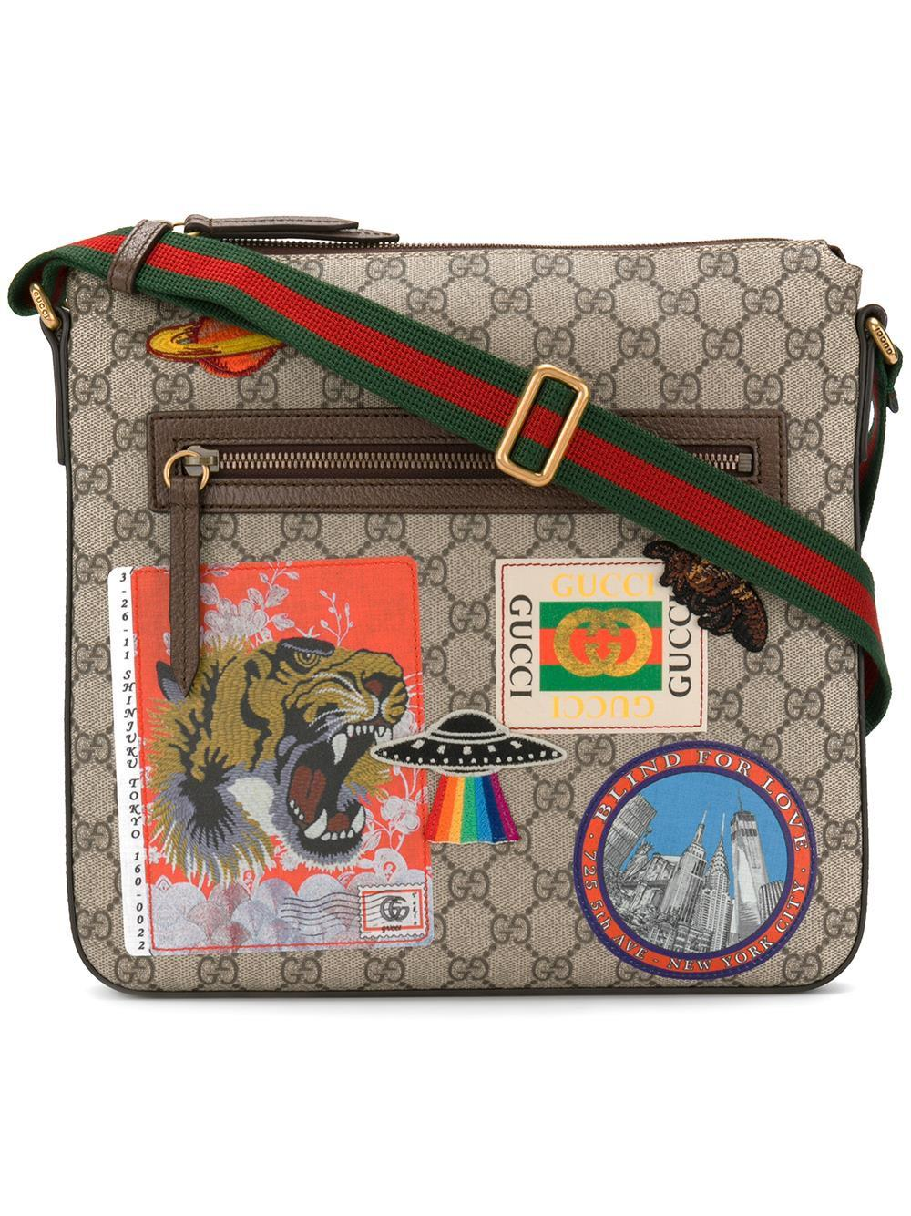 351628359d31 Gucci Courrier Soft Gg Supreme Crossbody Bag for Men - Lyst
