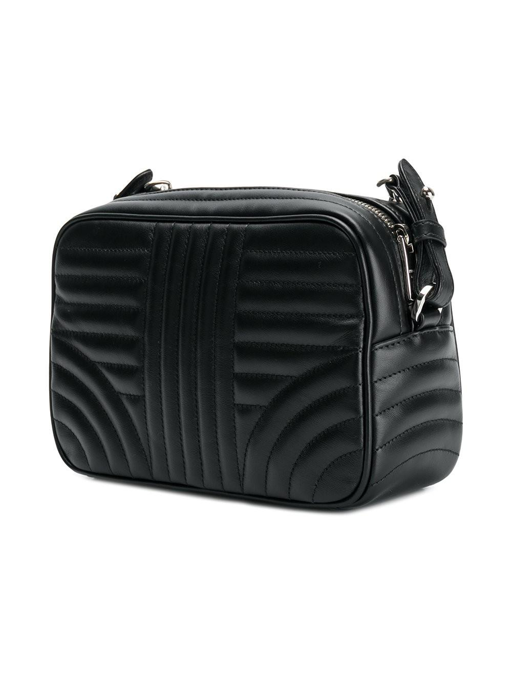 12d6b4e9d15aa Lyst - Prada Bevelled Camera Bag in Black